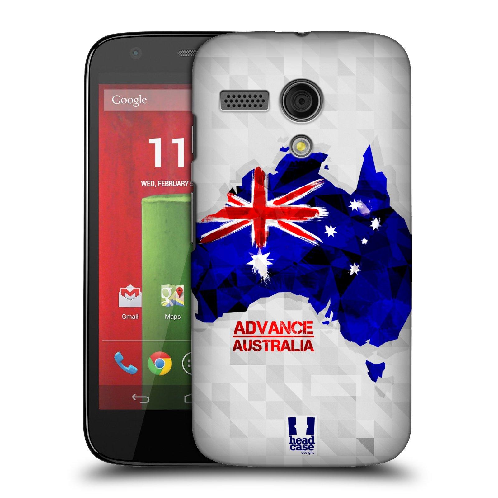 Plastové pouzdro na mobil Motorola Moto G HEAD CASE GEOMAPA AUSTRÁLIE (Kryt či obal na mobilní telefon Motorola Moto G)