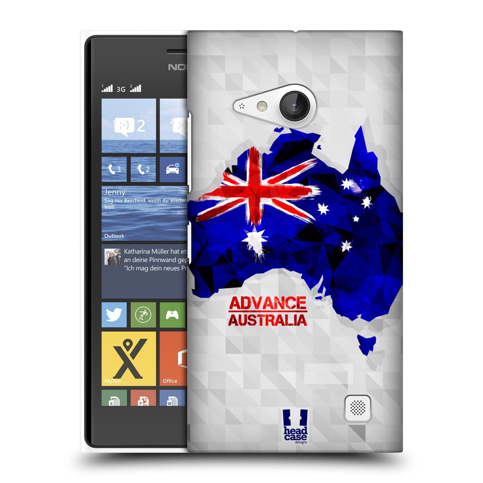Plastové pouzdro na mobil Nokia Lumia 730 Dual SIM HEAD CASE GEOMAPA AUSTRÁLIE (Kryt či obal na mobilní telefon Nokia Lumia 730 Dual SIM)