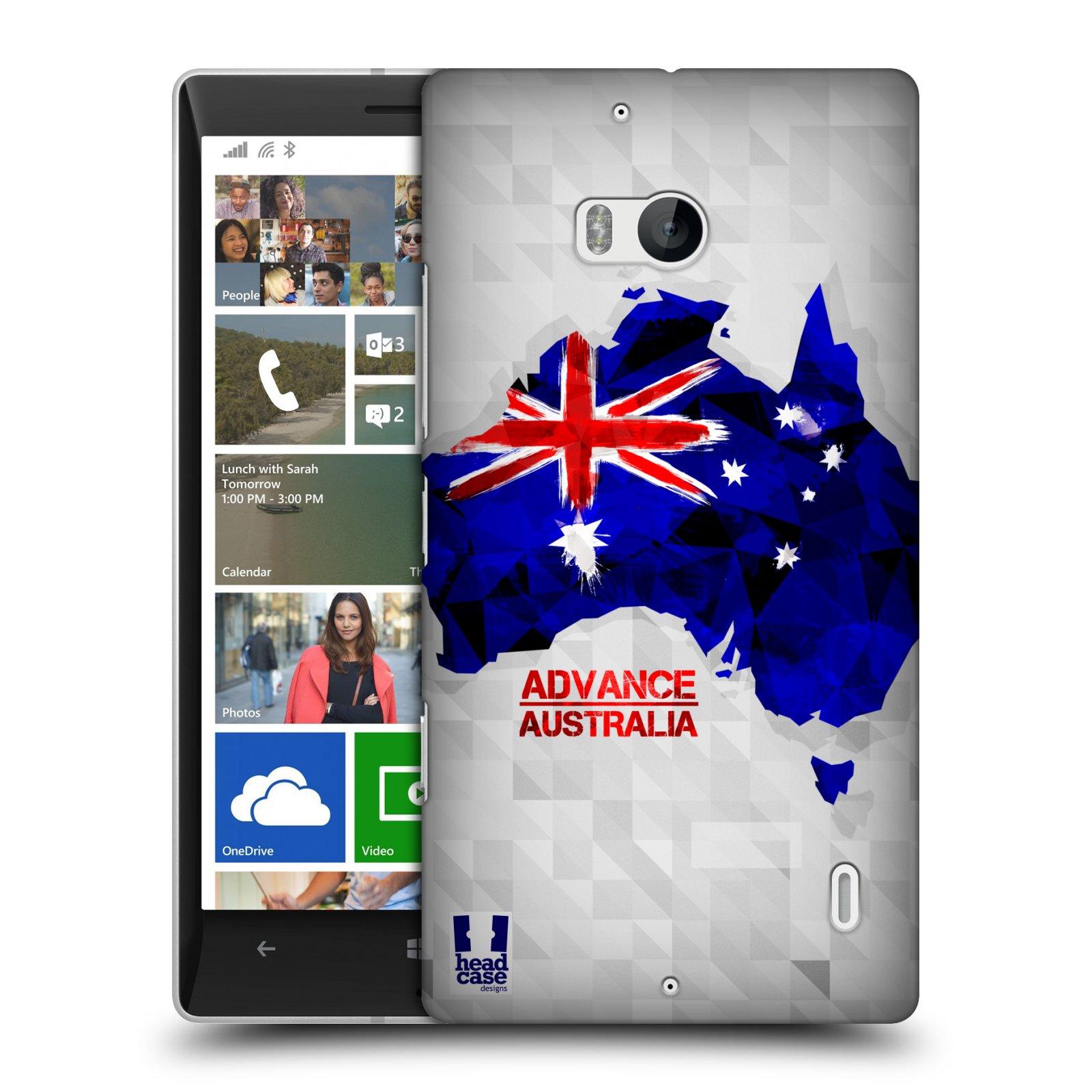 Plastové pouzdro na mobil Nokia Lumia 930 HEAD CASE GEOMAPA AUSTRÁLIE (Kryt či obal na mobilní telefon Nokia Lumia 930)