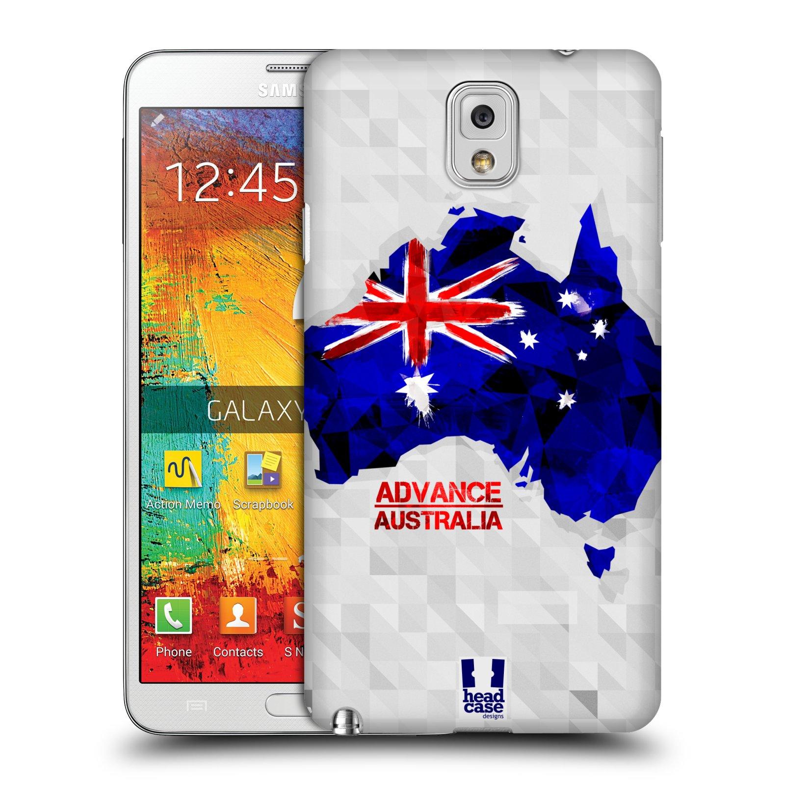 Plastové pouzdro na mobil Samsung Galaxy Note 3 HEAD CASE GEOMAPA AUSTRÁLIE (Kryt či obal na mobilní telefon Samsung Galaxy Note 3 SM-N9005)