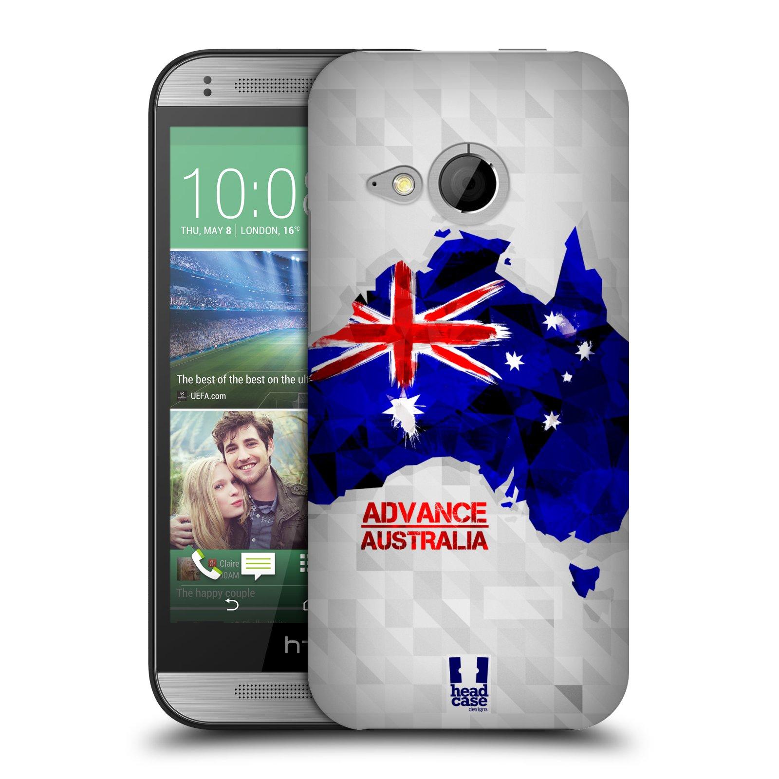 Plastové pouzdro na mobil HTC ONE Mini 2 HEAD CASE GEOMAPA AUSTRÁLIE (Kryt či obal na mobilní telefon HTC ONE Mini 2)