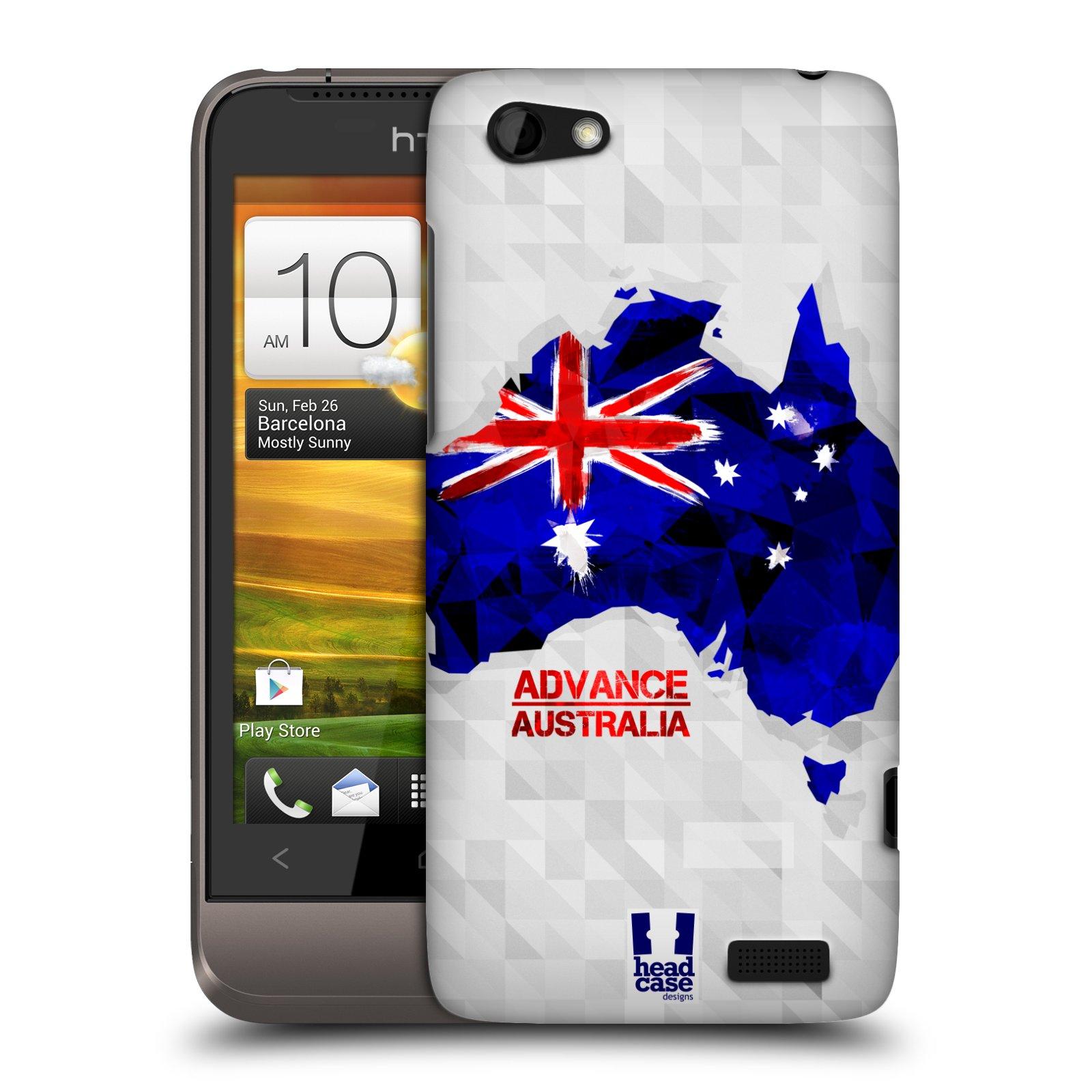 Plastové pouzdro na mobil HTC ONE V HEAD CASE GEOMAPA AUSTRÁLIE (Kryt či obal na mobilní telefon HTC ONE V)