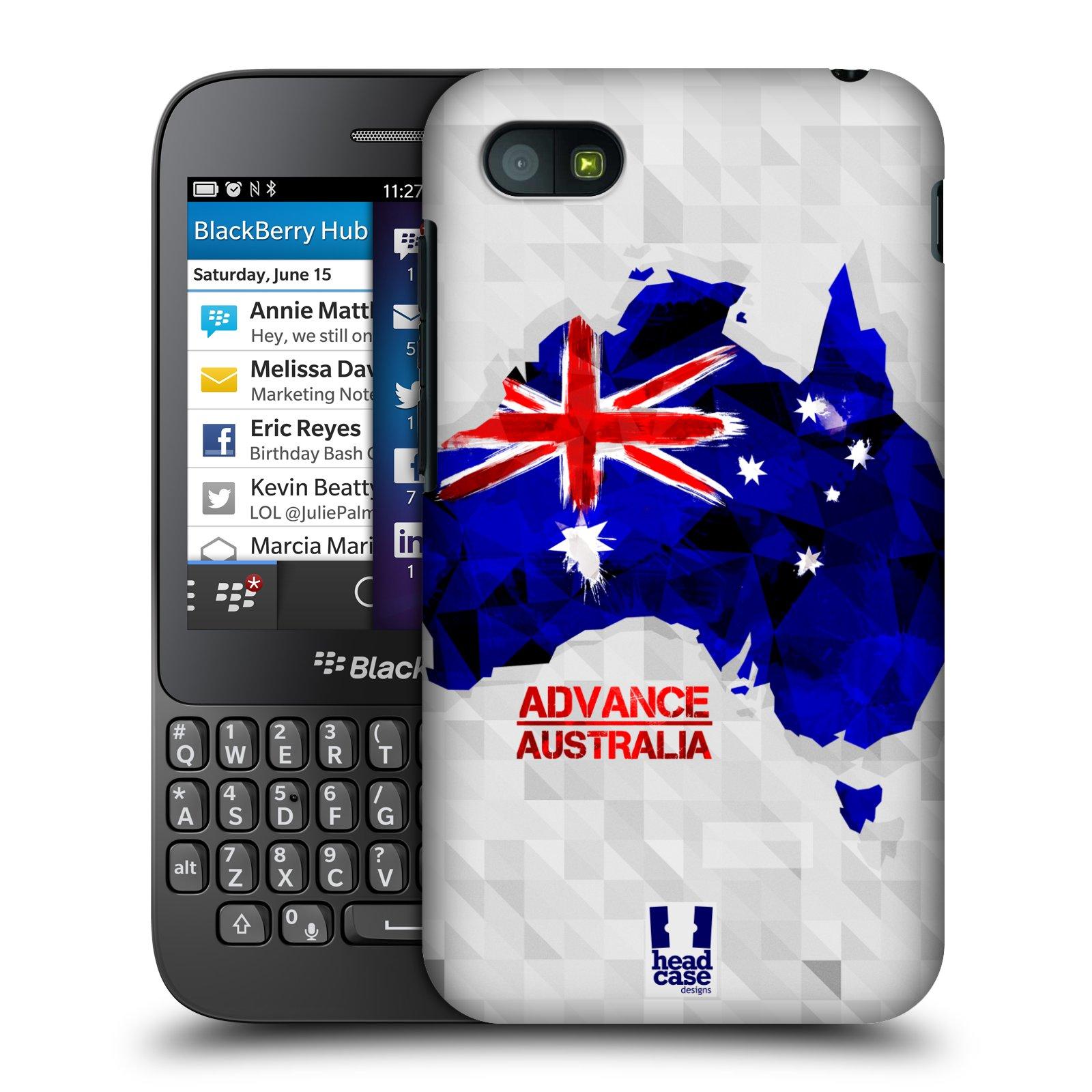 Plastové pouzdro na mobil Blackberry Q5 HEAD CASE GEOMAPA AUSTRÁLIE (Kryt či obal na mobilní telefon Blackberry Q5)