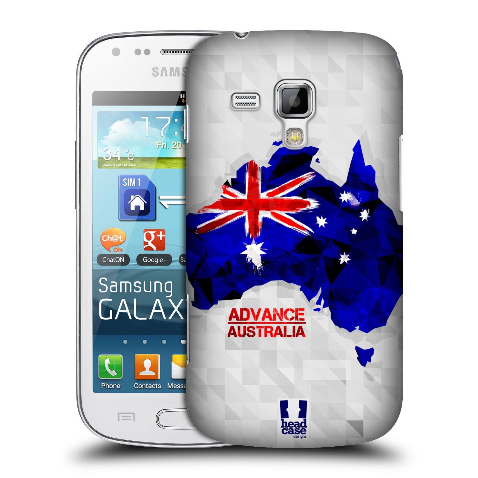 Plastové pouzdro na mobil Samsung Galaxy Trend Plus HEAD CASE GEOMAPA AUSTRÁLIE (Kryt či obal na mobilní telefon Samsung Galaxy Trend Plus GT-S7580)