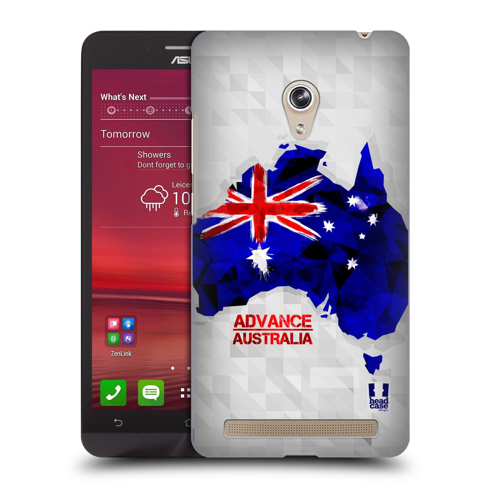 Plastové pouzdro na mobil Asus Zenfone 6 HEAD CASE GEOMAPA AUSTRÁLIE (Kryt či obal na mobilní telefon Asus Zenfone 6 A600CG / A601CG)