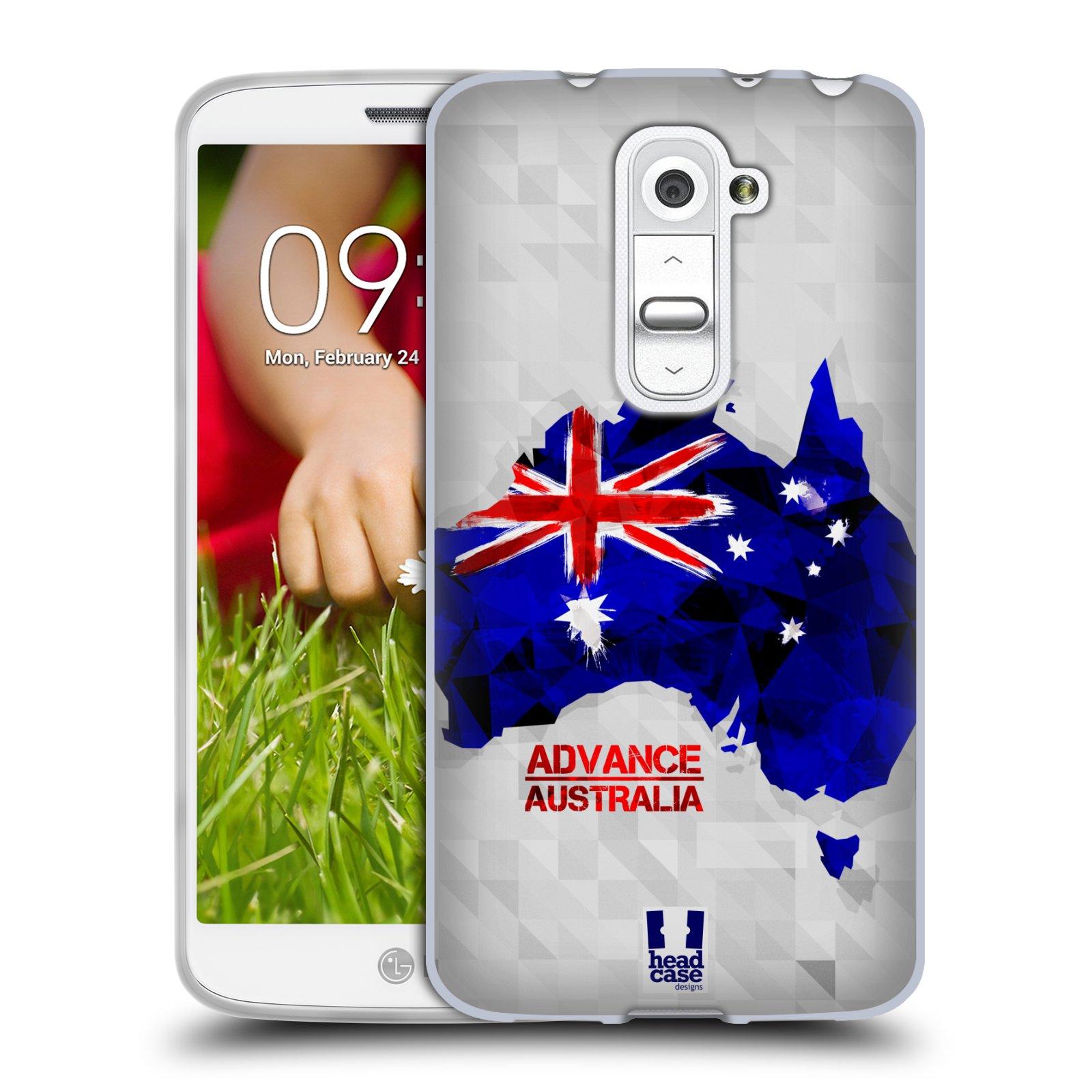 Silikonové pouzdro na mobil LG G2 Mini HEAD CASE GEOMAPA AUSTRÁLIE (Silikonový kryt či obal na mobilní telefon LG G2 Mini D620)