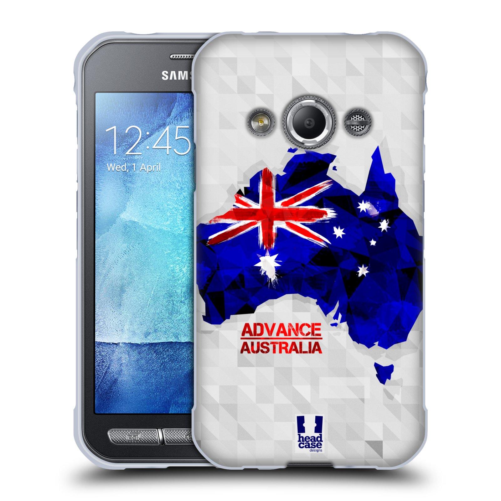 Silikonové pouzdro na mobil Samsung Galaxy Xcover 3 HEAD CASE GEOMAPA AUSTRÁLIE (Silikonový kryt či obal na mobilní telefon Samsung Galaxy Xcover 3 SM-G388F)