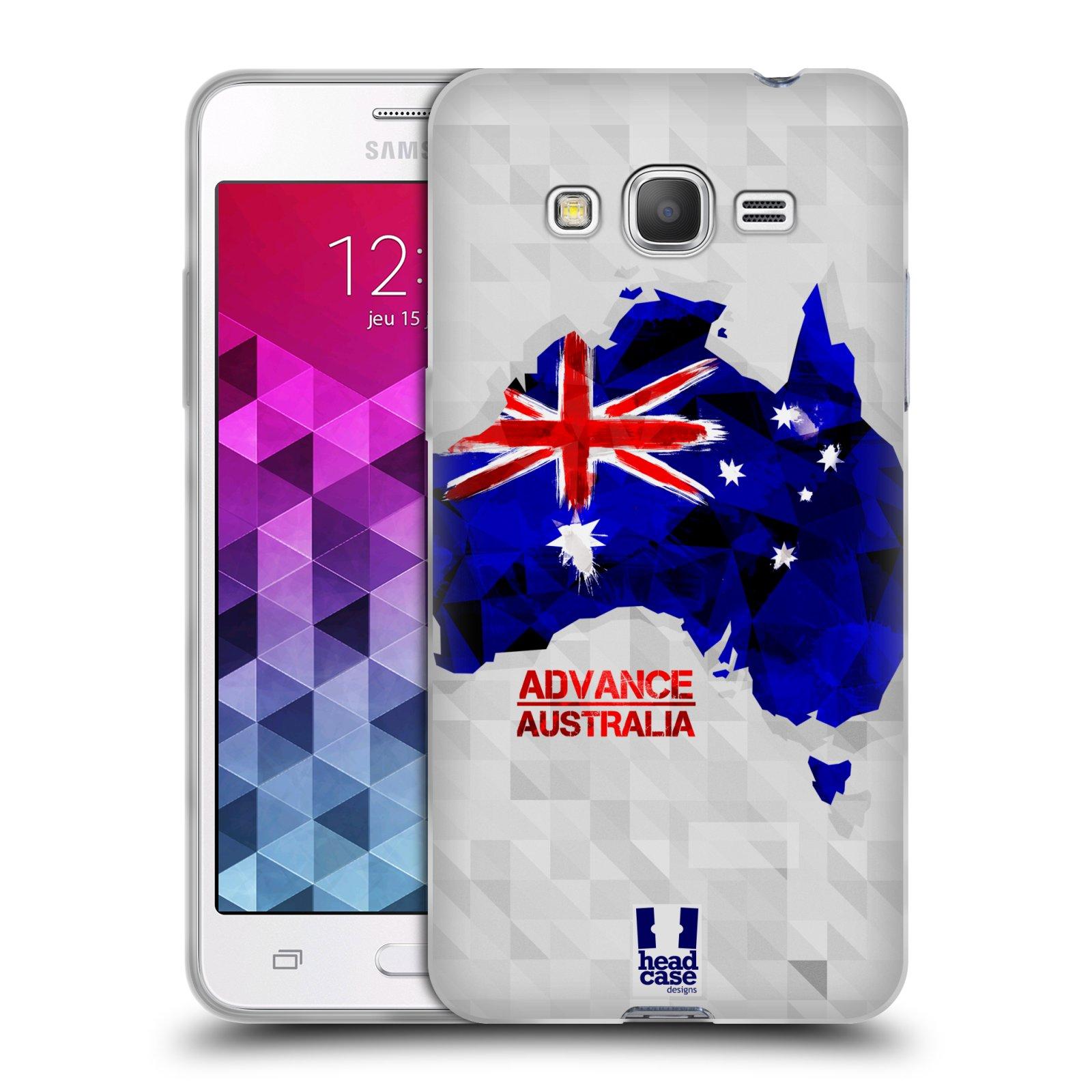 Silikonové pouzdro na mobil Samsung Galaxy Grand Prime VE HEAD CASE GEOMAPA AUSTRÁLIE (Silikonový kryt či obal na mobilní telefon Samsung Galaxy Grand Prime VE SM-G531F)