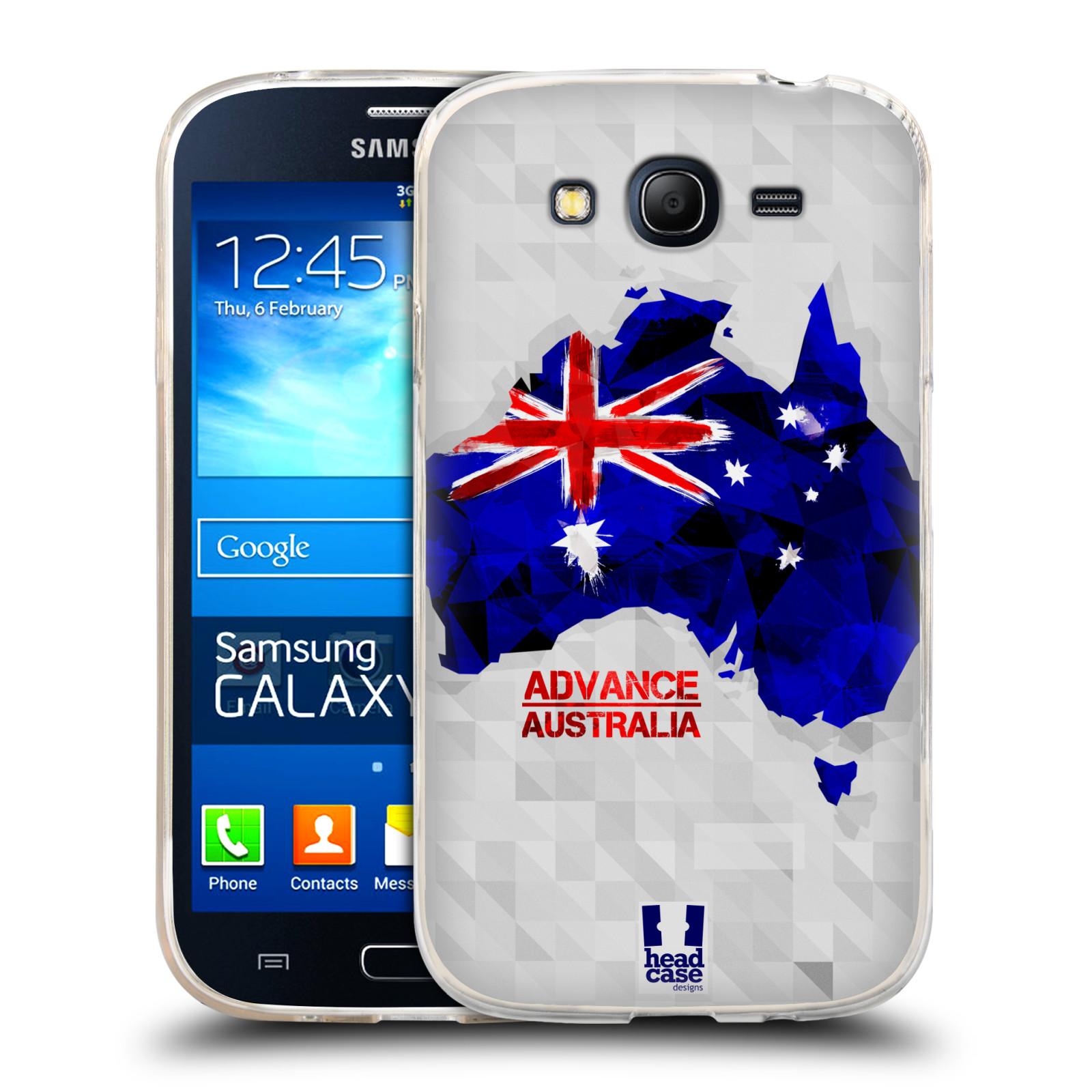 Silikonové pouzdro na mobil Samsung Galaxy Grand Neo HEAD CASE GEOMAPA AUSTRÁLIE (Silikonový kryt či obal na mobilní telefon Samsung Galaxy Grand Neo GT-I9060)