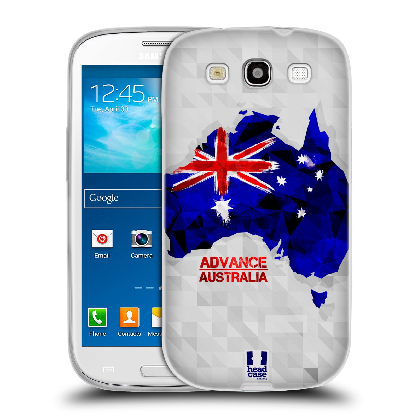 Silikonové pouzdro na mobil Samsung Galaxy S III HEAD CASE GEOMAPA AUSTRÁLIE (Silikonový kryt či obal na mobilní telefon Samsung Galaxy S III GT-i9300)