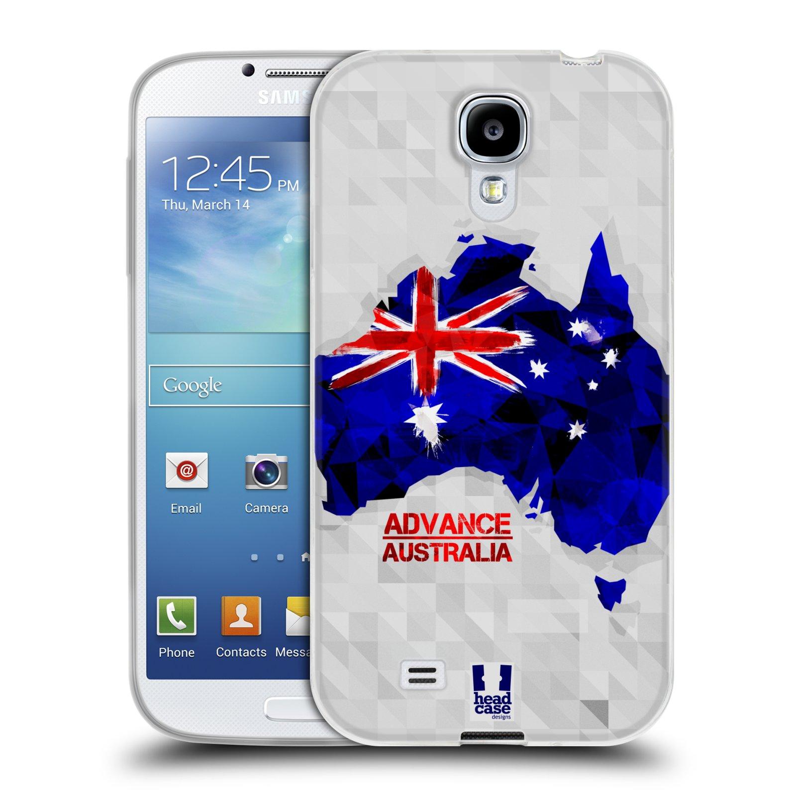 Silikonové pouzdro na mobil Samsung Galaxy S4 HEAD CASE GEOMAPA AUSTRÁLIE (Silikonový kryt či obal na mobilní telefon Samsung Galaxy S4 GT-i9505 / i9500)