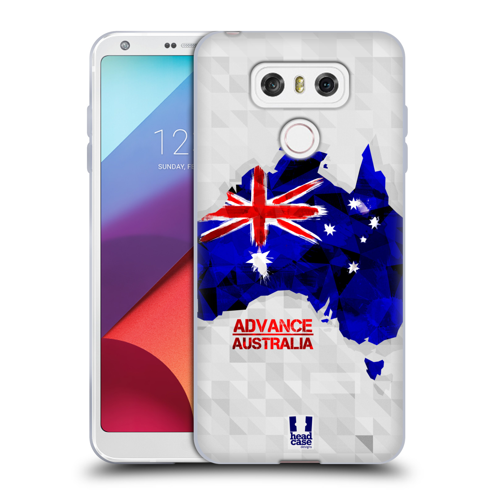 Silikonové pouzdro na mobil LG G6 - Head Case GEOMAPA AUSTRÁLIE (Silikonový kryt či obal na mobilní telefon LG G6 H870 / LG G6 Dual SIM H870DS)