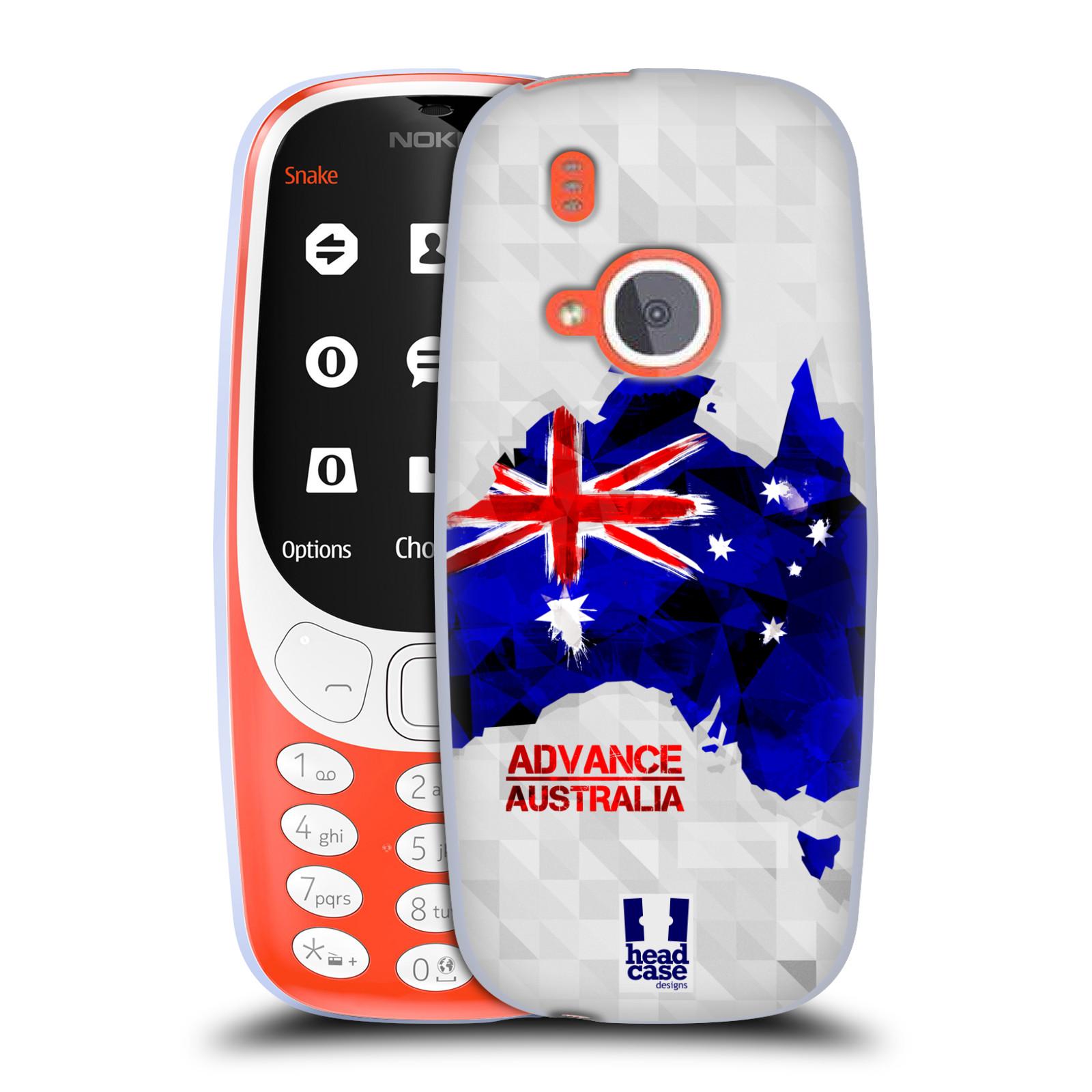 Silikonové pouzdro na mobil Nokia 3310 - Head Case - GEOMAPA AUSTRÁLIE (Silikonový kryt či obal na mobilní telefon Nokia 3310 (2017) s motivem GEOMAPA AUSTRÁLIE)