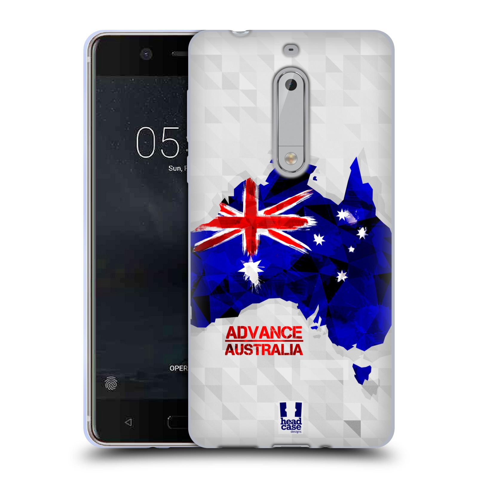 Silikonové pouzdro na mobil Nokia 5 Head Case - GEOMAPA AUSTRÁLIE