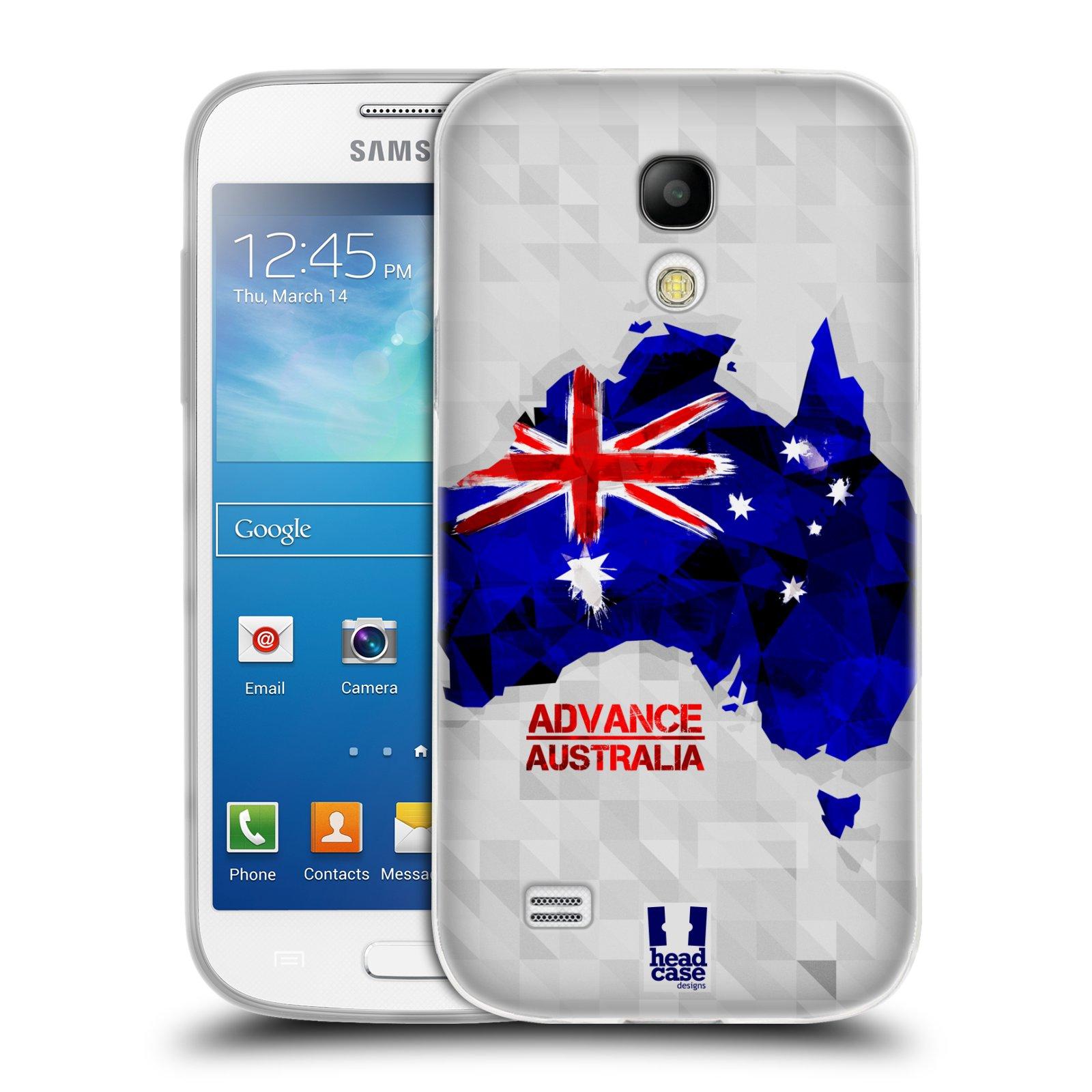 Silikonové pouzdro na mobil Samsung Galaxy S4 Mini HEAD CASE GEOMAPA AUSTRÁLIE (Silikonový kryt či obal na mobilní telefon Samsung Galaxy S4 Mini GT-i9195 / i9190 (nepasuje na verzi Black Edition))