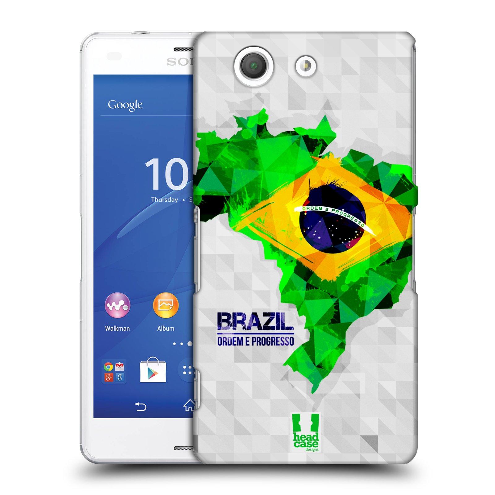 Plastové pouzdro na mobil Sony Xperia Z3 Compact D5803 HEAD CASE GEOMAPA BRAZÍLIE
