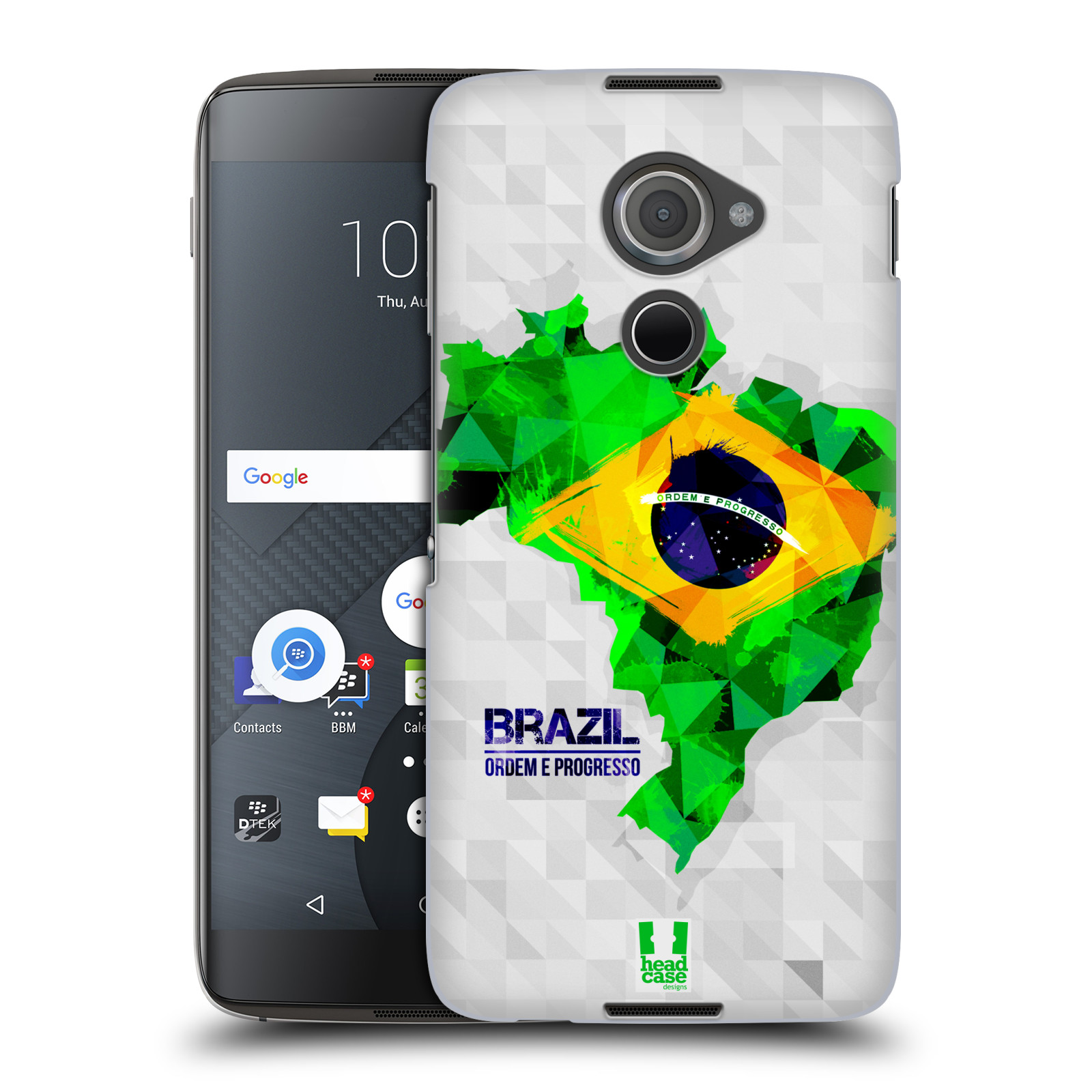 Plastové pouzdro na mobil Blackberry DTEK60 (Argon) - Head Case GEOMAPA BRAZÍLIE (Plastový kryt či obal na mobilní telefon Blackberry DTEK60 (Argon))