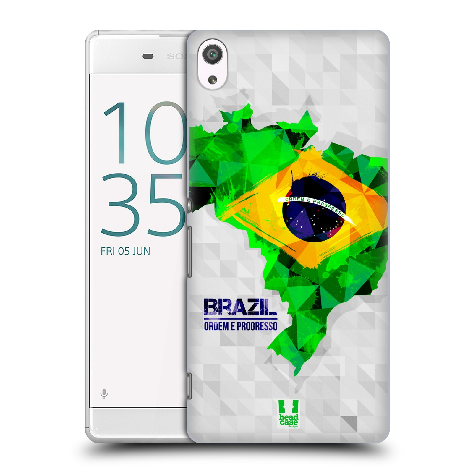 Plastové pouzdro na mobil Sony Xperia XA Ultra HEAD CASE GEOMAPA BRAZÍLIE (Plastový kryt či obal na mobilní telefon Sony Xperia XA Ultra F3211)