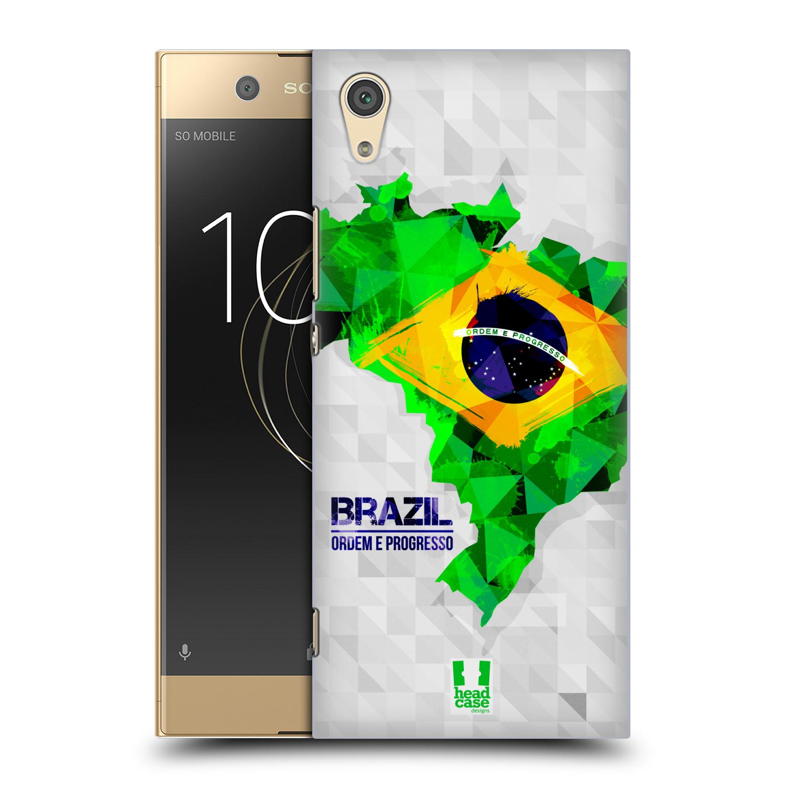 Plastové pouzdro na mobil Sony Xperia XA1 - Head Case - GEOMAPA BRAZÍLIE (Plastový kryt či obal na mobilní telefon Sony Xperia XA1 G3121 s motivem GEOMAPA BRAZÍLIE)