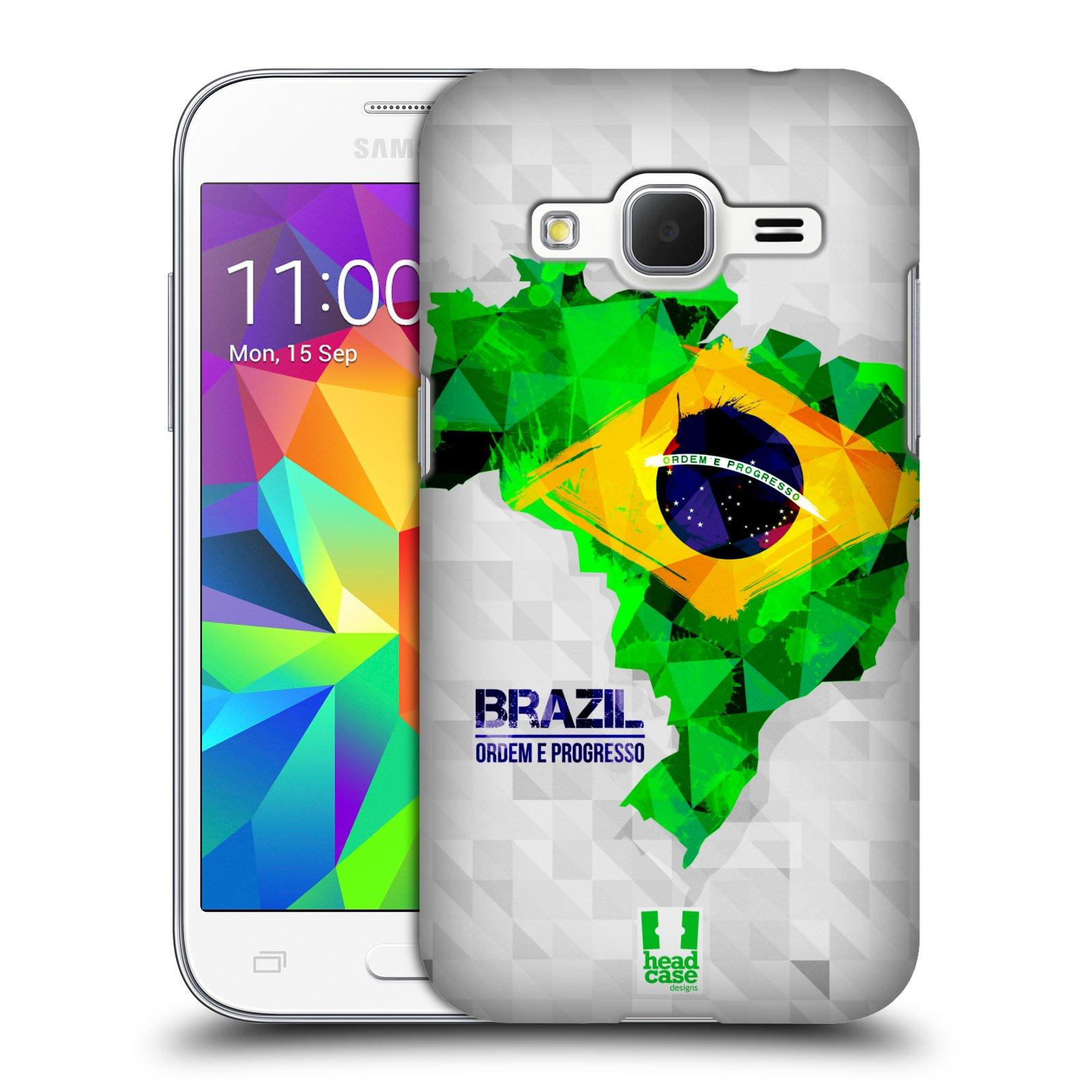 Plastové pouzdro na mobil Samsung Galaxy Core Prime VE HEAD CASE GEOMAPA BRAZÍLIE (Kryt či obal na mobilní telefon Samsung Galaxy Core Prime LTE VE SM-G361F)