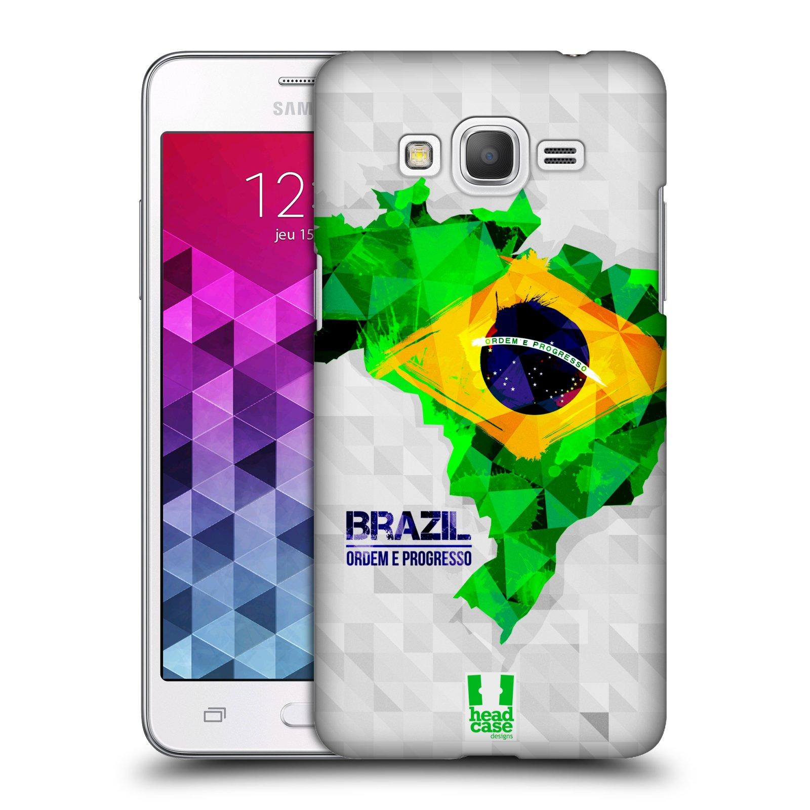 Plastové pouzdro na mobil Samsung Galaxy Grand Prime HEAD CASE GEOMAPA BRAZÍLIE