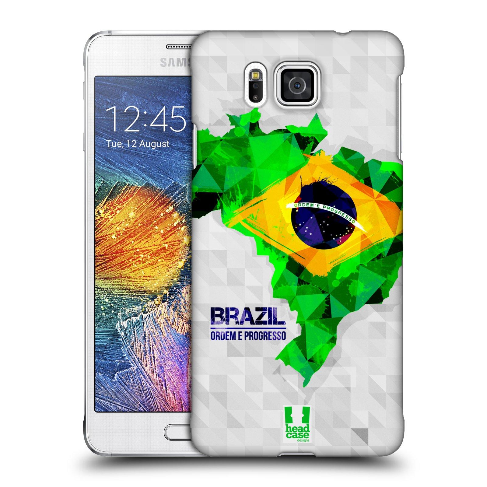 Plastové pouzdro na mobil Samsung Galaxy Alpha HEAD CASE GEOMAPA BRAZÍLIE (Kryt či obal na mobilní telefon Samsung Galaxy Alpha SM-G850)