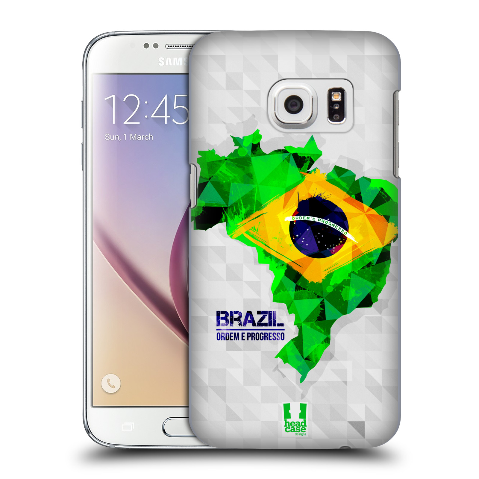 Plastové pouzdro na mobil Samsung Galaxy S7 HEAD CASE GEOMAPA BRAZÍLIE (Kryt či obal na mobilní telefon Samsung Galaxy S7 SM-G930F)