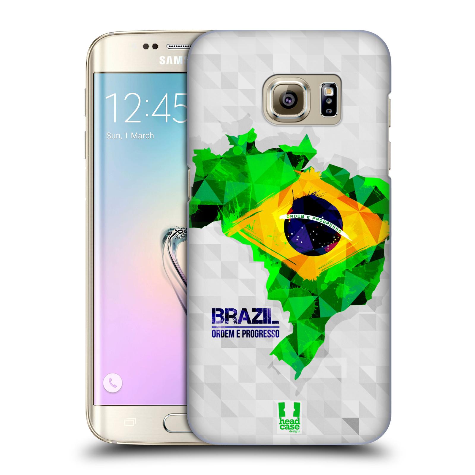 Plastové pouzdro na mobil Samsung Galaxy S7 Edge HEAD CASE GEOMAPA BRAZÍLIE (Kryt či obal na mobilní telefon Samsung Galaxy S7 Edge SM-G935F)
