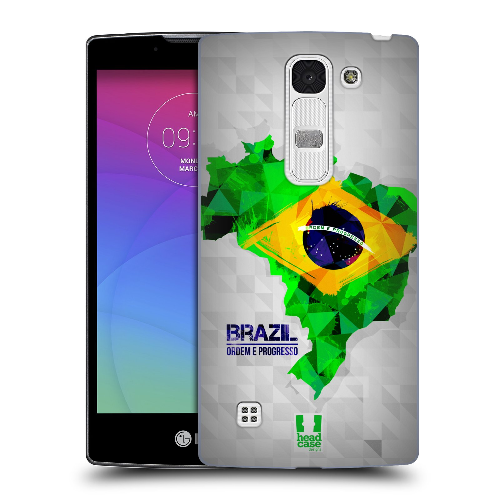 Plastové pouzdro na mobil LG Spirit LTE HEAD CASE GEOMAPA BRAZÍLIE (Kryt či obal na mobilní telefon LG Spirit H420 a LG Spirit LTE H440N)