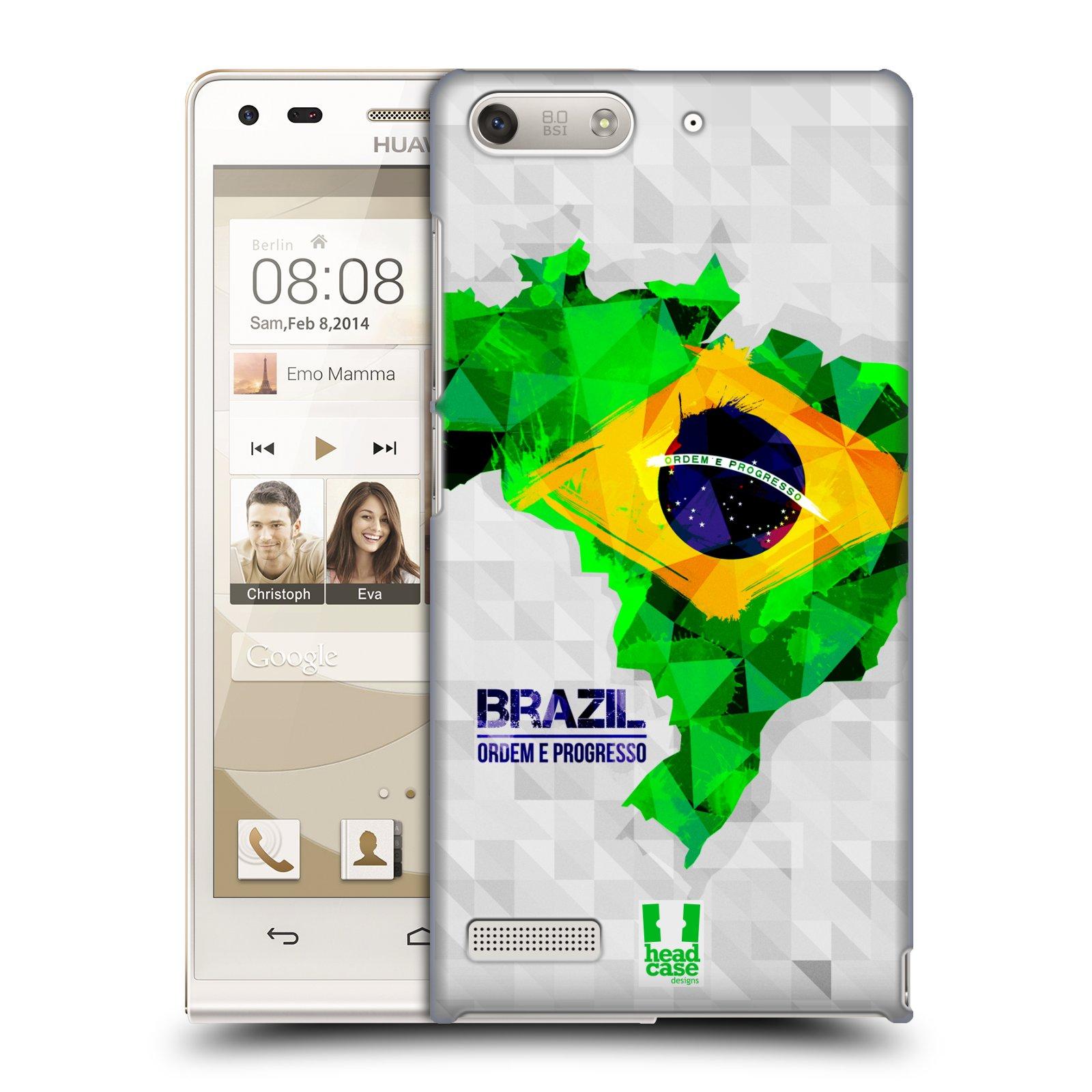 Plastové pouzdro na mobil Huawei Ascend G6 HEAD CASE GEOMAPA BRAZÍLIE (Kryt či obal na mobilní telefon Huawei Ascend G6 bez LTE)