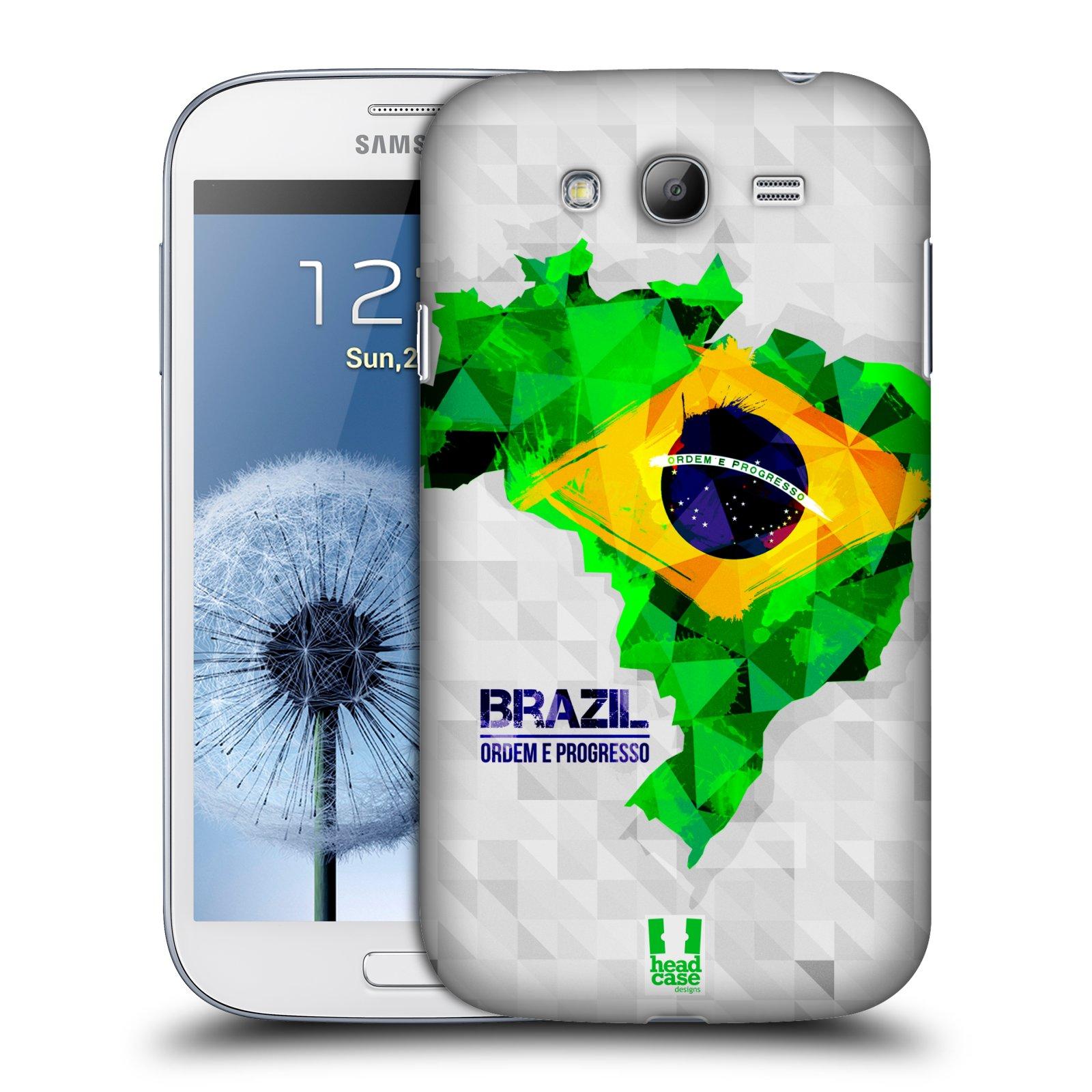 Plastové pouzdro na mobil Samsung Galaxy Grand Neo Plus HEAD CASE GEOMAPA BRAZÍLIE (Kryt či obal na mobilní telefon Samsung Galaxy Grand Neo Plus GT-i9060i)