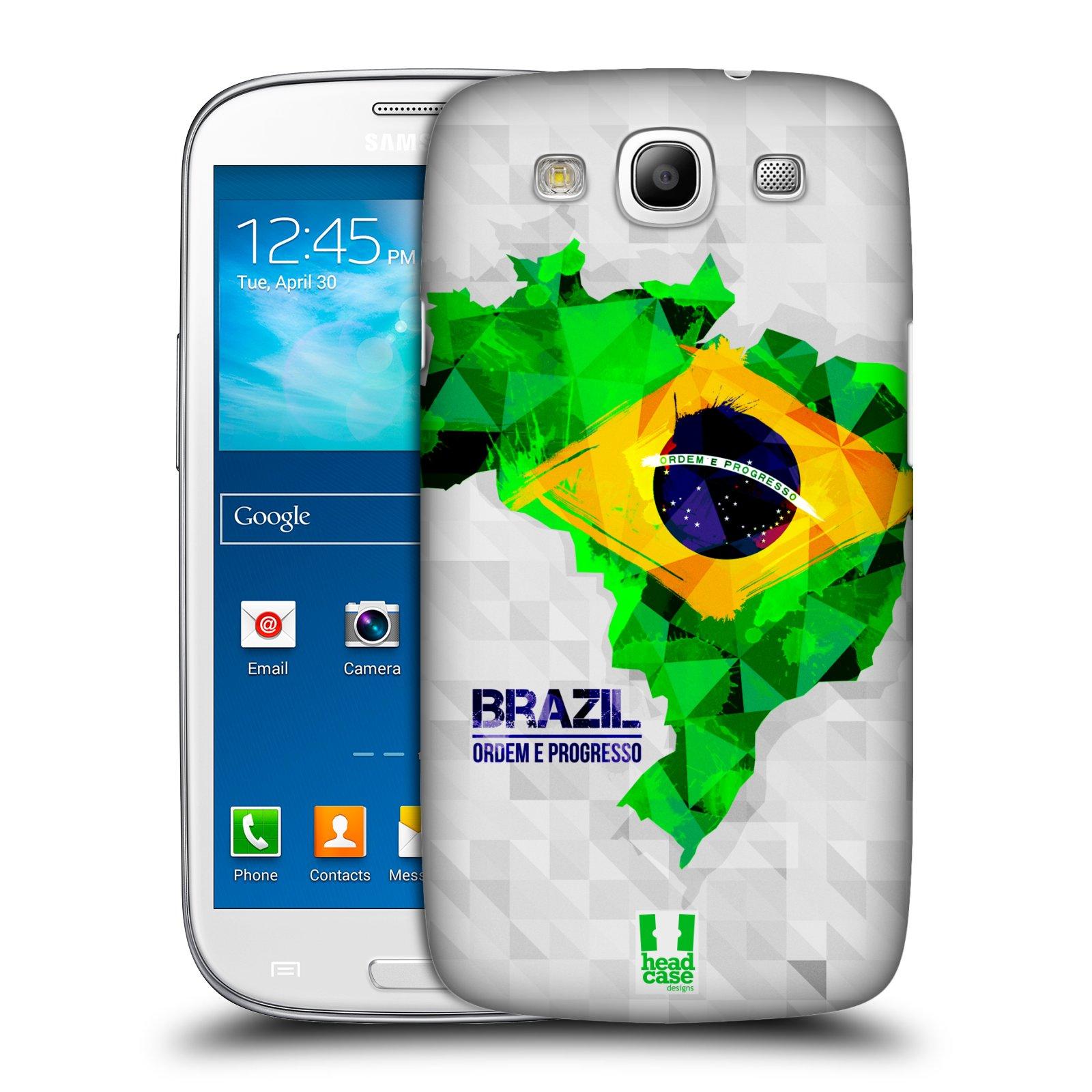 Plastové pouzdro na mobil Samsung Galaxy S3 Neo HEAD CASE GEOMAPA BRAZÍLIE
