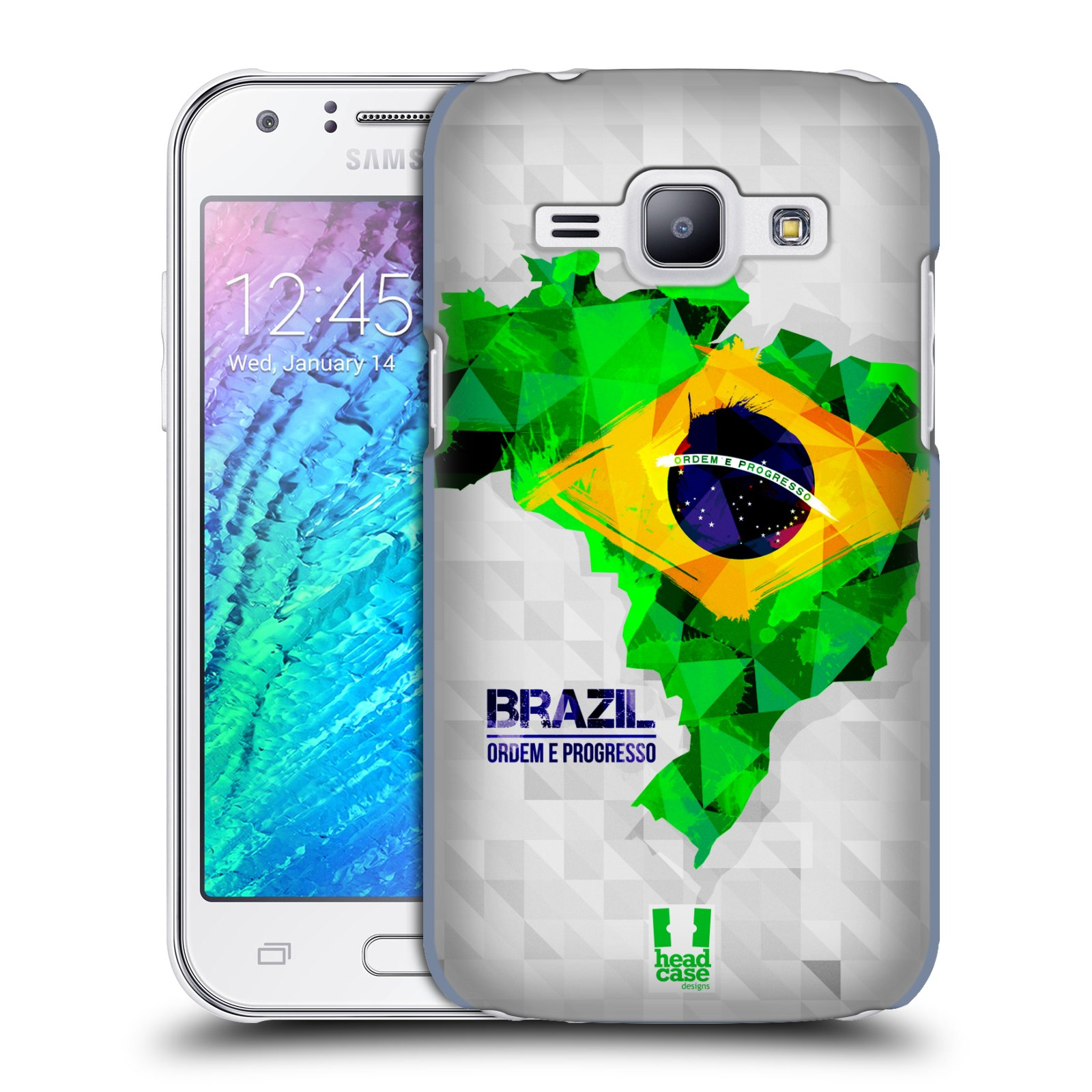 Plastové pouzdro na mobil Samsung Galaxy J1 HEAD CASE GEOMAPA BRAZÍLIE (Kryt či obal na mobilní telefon Samsung Galaxy J1 a J1 Duos )
