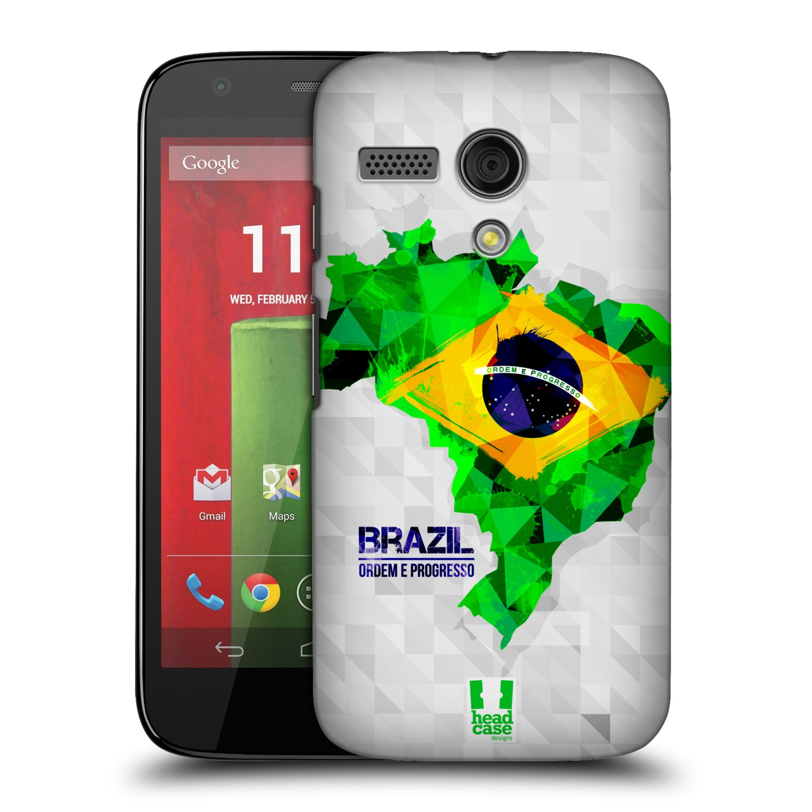 Plastové pouzdro na mobil Motorola Moto G HEAD CASE GEOMAPA BRAZÍLIE (Kryt či obal na mobilní telefon Motorola Moto G)