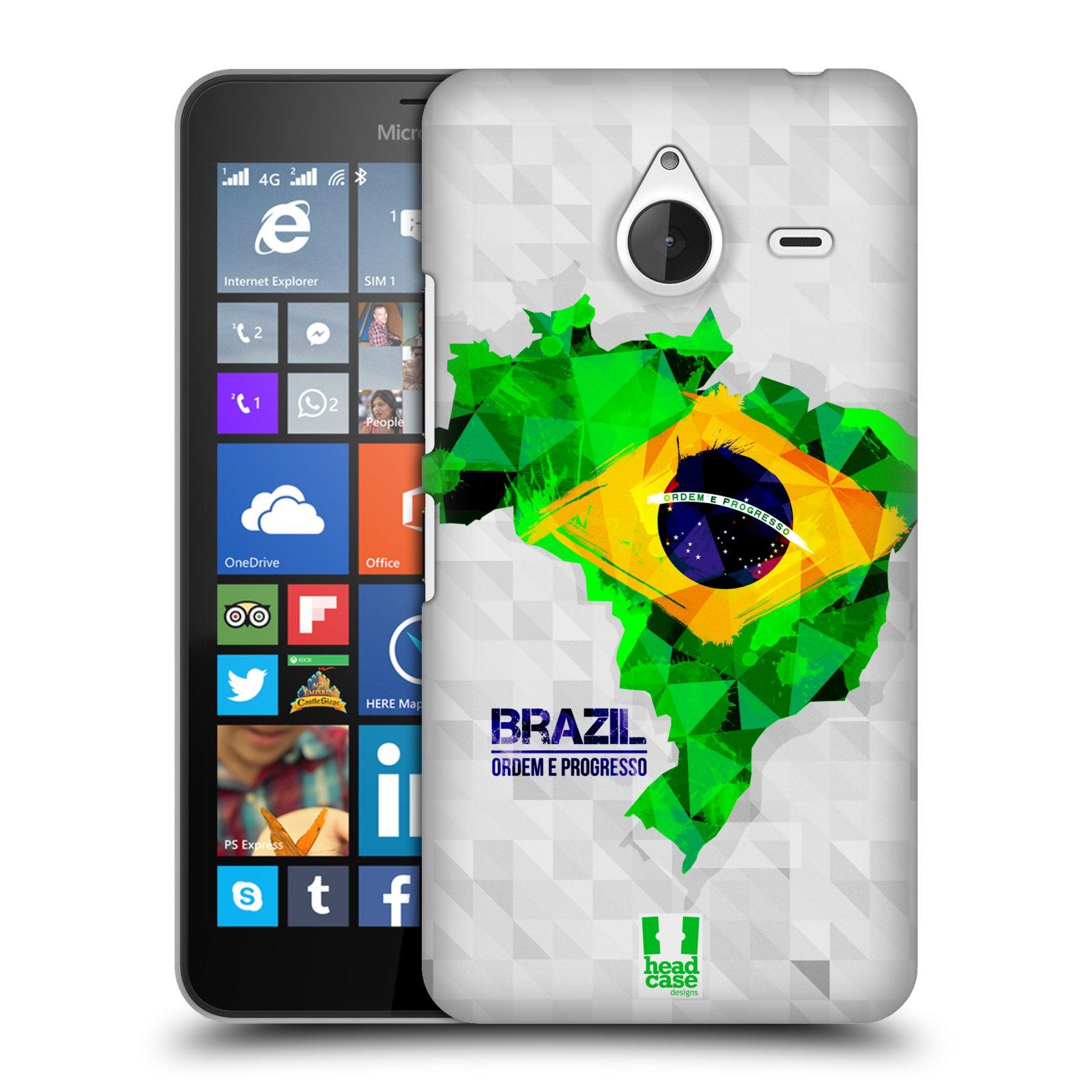 Plastové pouzdro na mobil Microsoft Lumia 640 XL HEAD CASE GEOMAPA BRAZÍLIE (Kryt či obal na mobilní telefon Microsoft Lumia 640 XL)