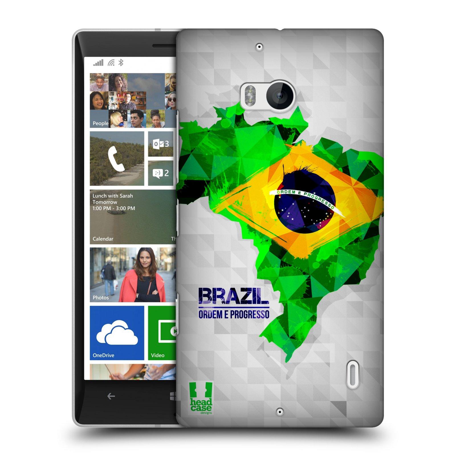 Plastové pouzdro na mobil Nokia Lumia 930 HEAD CASE GEOMAPA BRAZÍLIE (Kryt či obal na mobilní telefon Nokia Lumia 930)