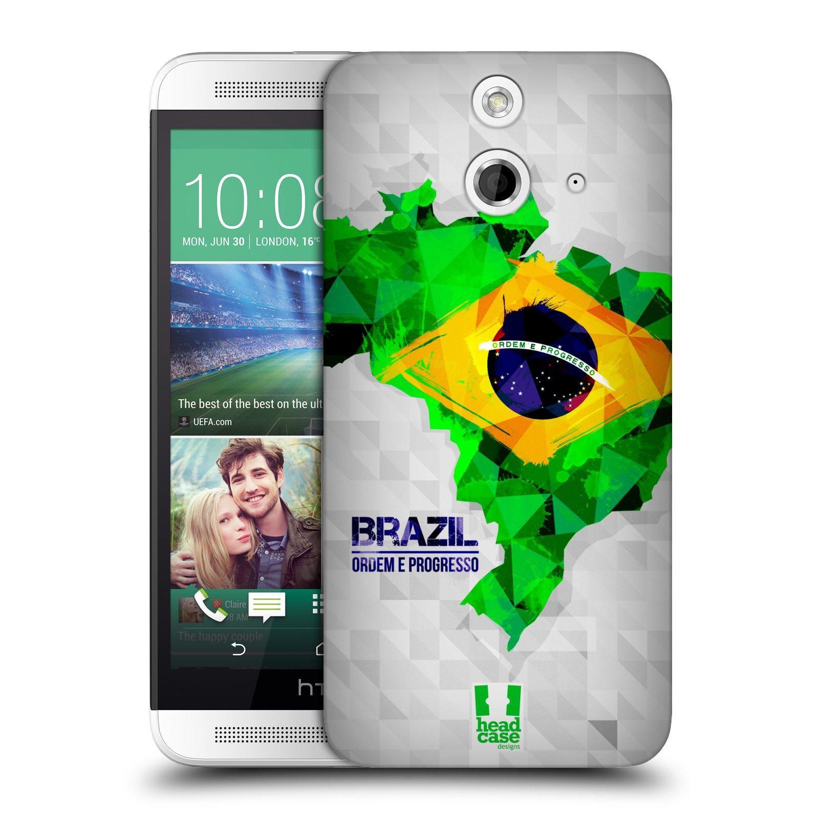 Plastové pouzdro na mobil HTC ONE E8 HEAD CASE GEOMAPA BRAZÍLIE (Kryt či obal na mobilní telefon HTC ONE E8)