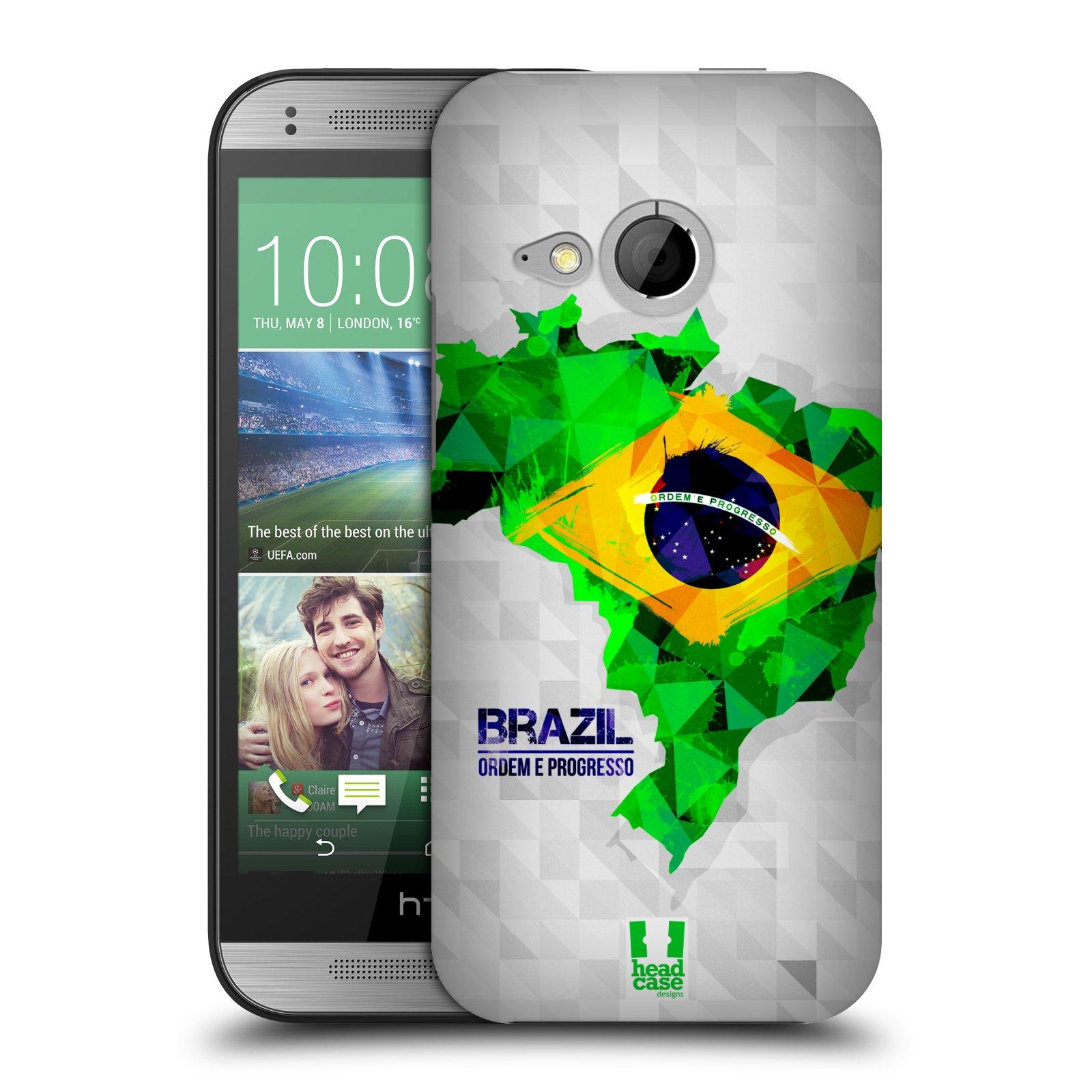 Plastové pouzdro na mobil HTC ONE Mini 2 HEAD CASE GEOMAPA BRAZÍLIE (Kryt či obal na mobilní telefon HTC ONE Mini 2)
