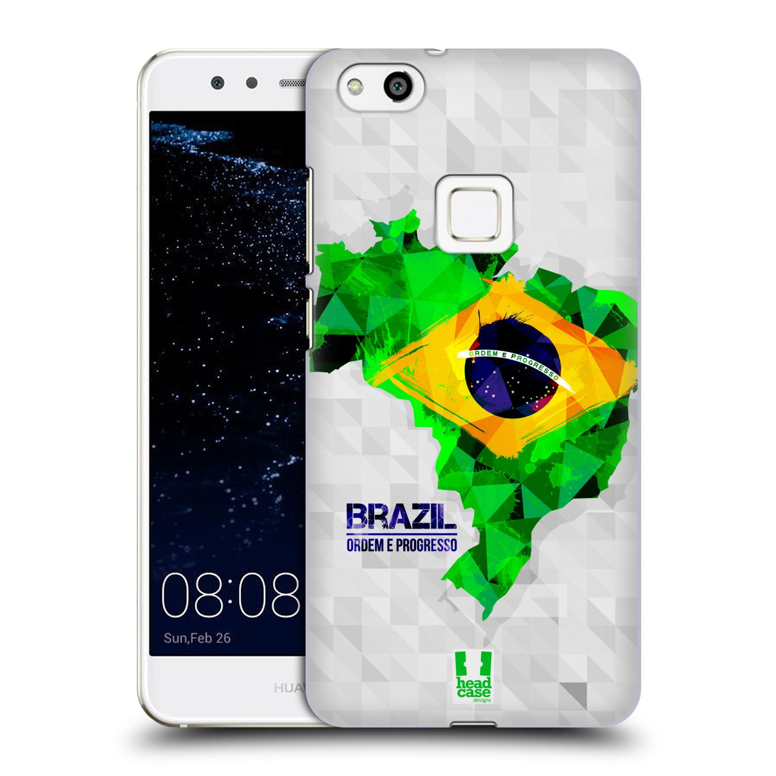 Plastové pouzdro na mobil Huawei P10 Lite Head Case - GEOMAPA BRAZÍLIE (Plastový kryt či obal na mobilní telefon Huawei P10 Lite Dual SIM (LX1/LX1A))