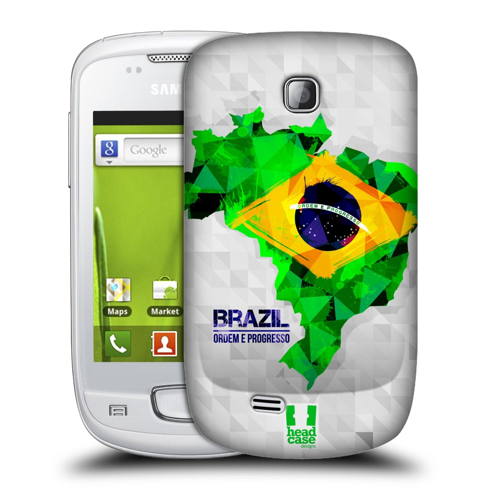 Plastové pouzdro na mobil Samsung Galaxy Mini HEAD CASE GEOMAPA BRAZÍLIE (Kryt či obal na mobilní telefon Samsung Galaxy Mini GT-S5570 / GT-S5570i)