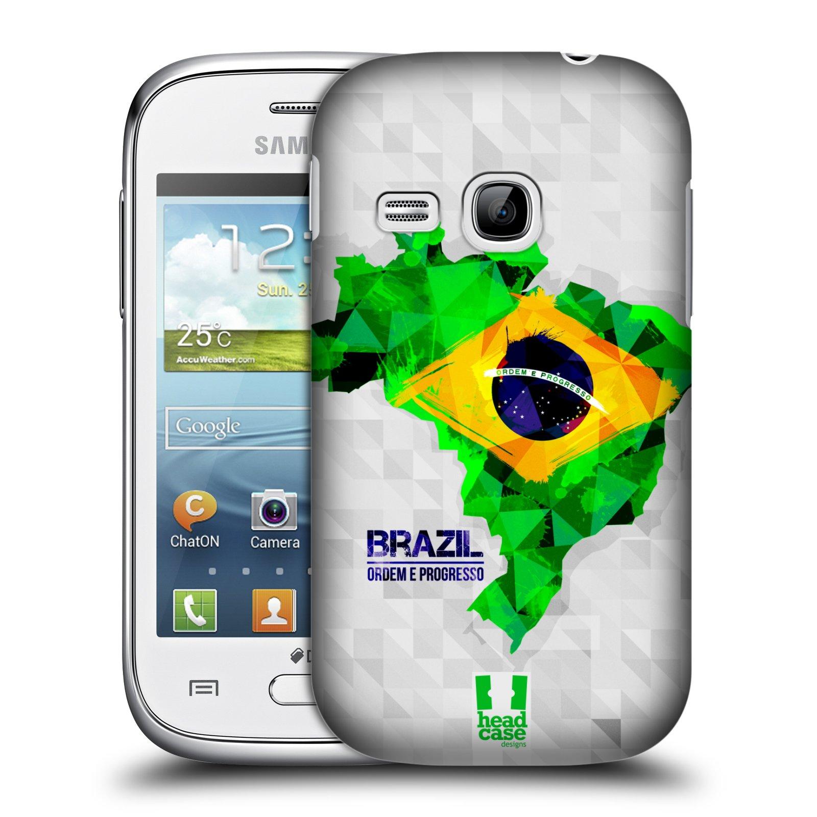 Plastové pouzdro na mobil Samsung Galaxy Young HEAD CASE GEOMAPA BRAZÍLIE (Kryt či obal na mobilní telefon Samsung Galaxy Young GT-S6310)