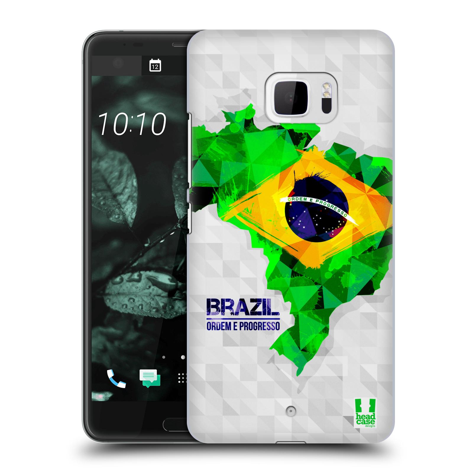 Plastové pouzdro na mobil HTC U Ultra Head Case - GEOMAPA BRAZÍLIE (Plastový kryt či obal na mobilní telefon HTC U Ultra (99HALT015-00))