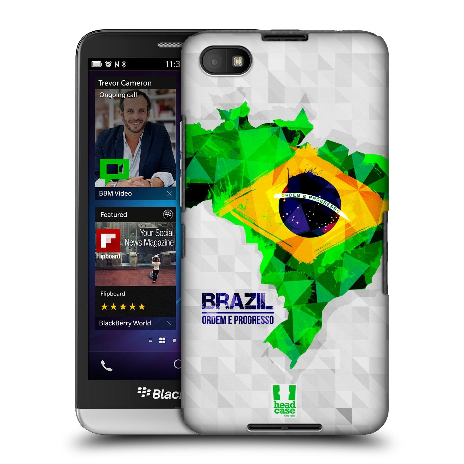 Plastové pouzdro na mobil Blackberry Z30 HEAD CASE GEOMAPA BRAZÍLIE (Kryt či obal na mobilní telefon Blackberry Z30)