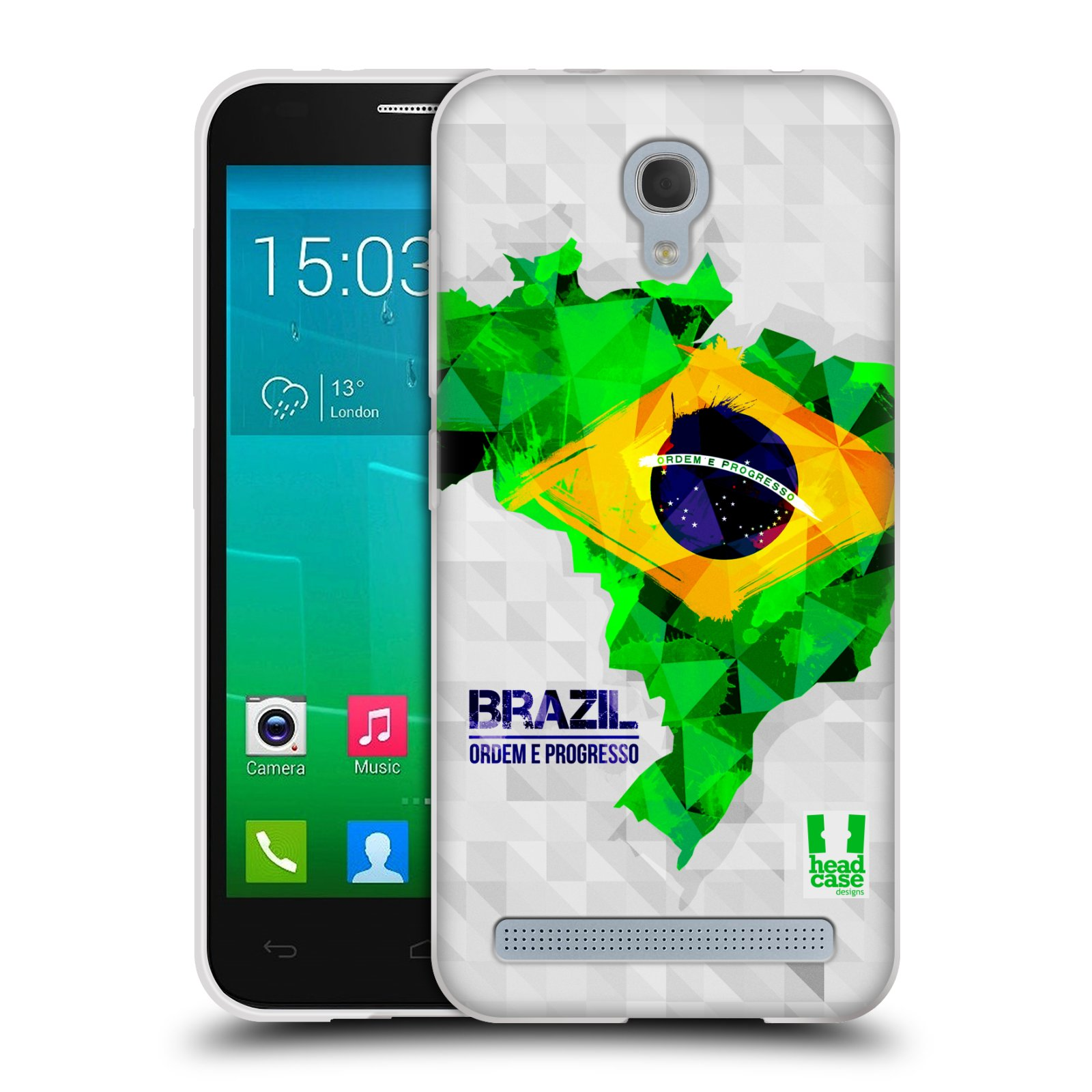 Silikonové pouzdro na mobil Alcatel One Touch Idol 2 Mini S 6036Y HEAD CASE GEOMAPA BRAZÍLIE (Silikonový kryt či obal na mobilní telefon Alcatel Idol 2 Mini S OT-6036Y)