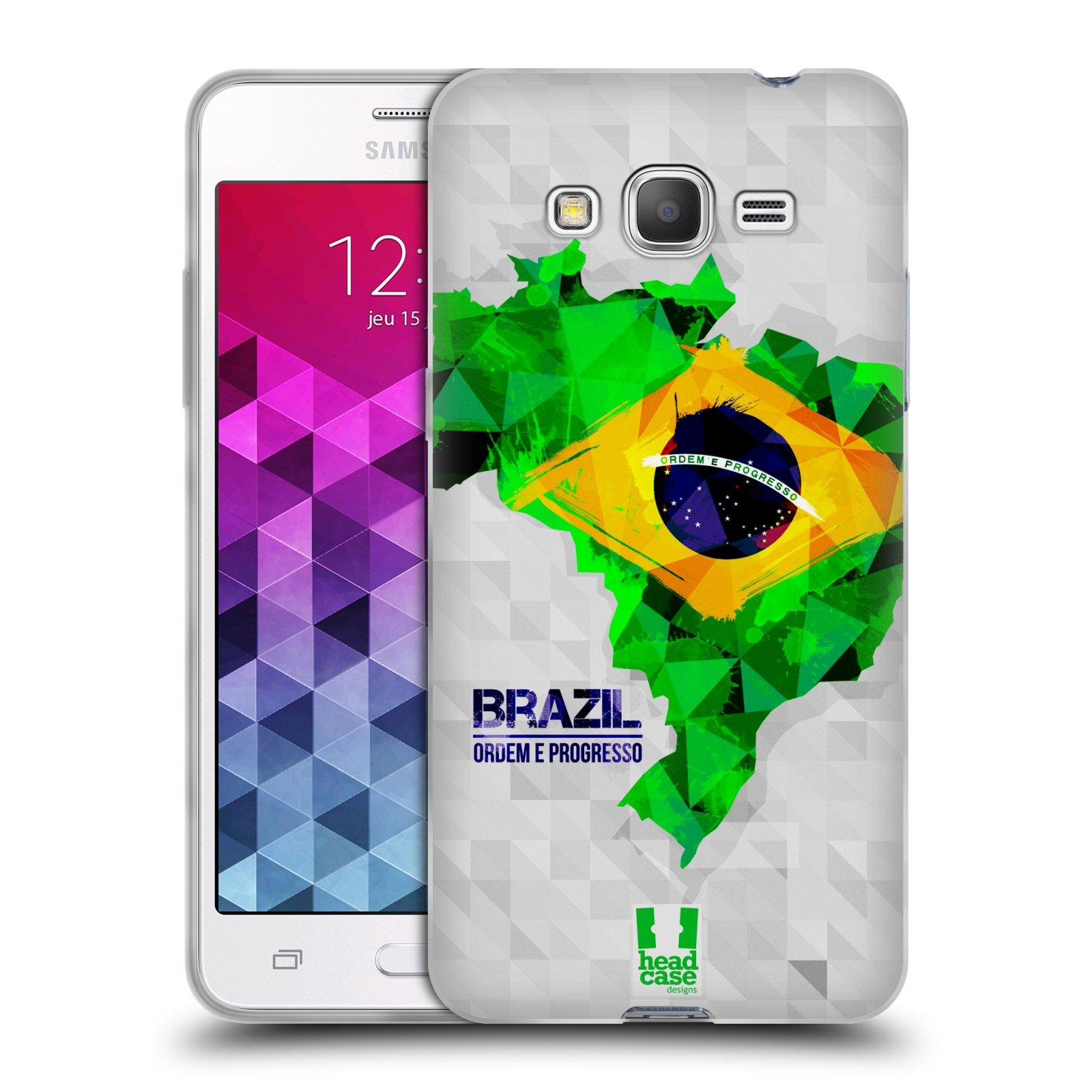 Silikonové pouzdro na mobil Samsung Galaxy Grand Prime VE HEAD CASE GEOMAPA BRAZÍLIE (Silikonový kryt či obal na mobilní telefon Samsung Galaxy Grand Prime VE SM-G531F)