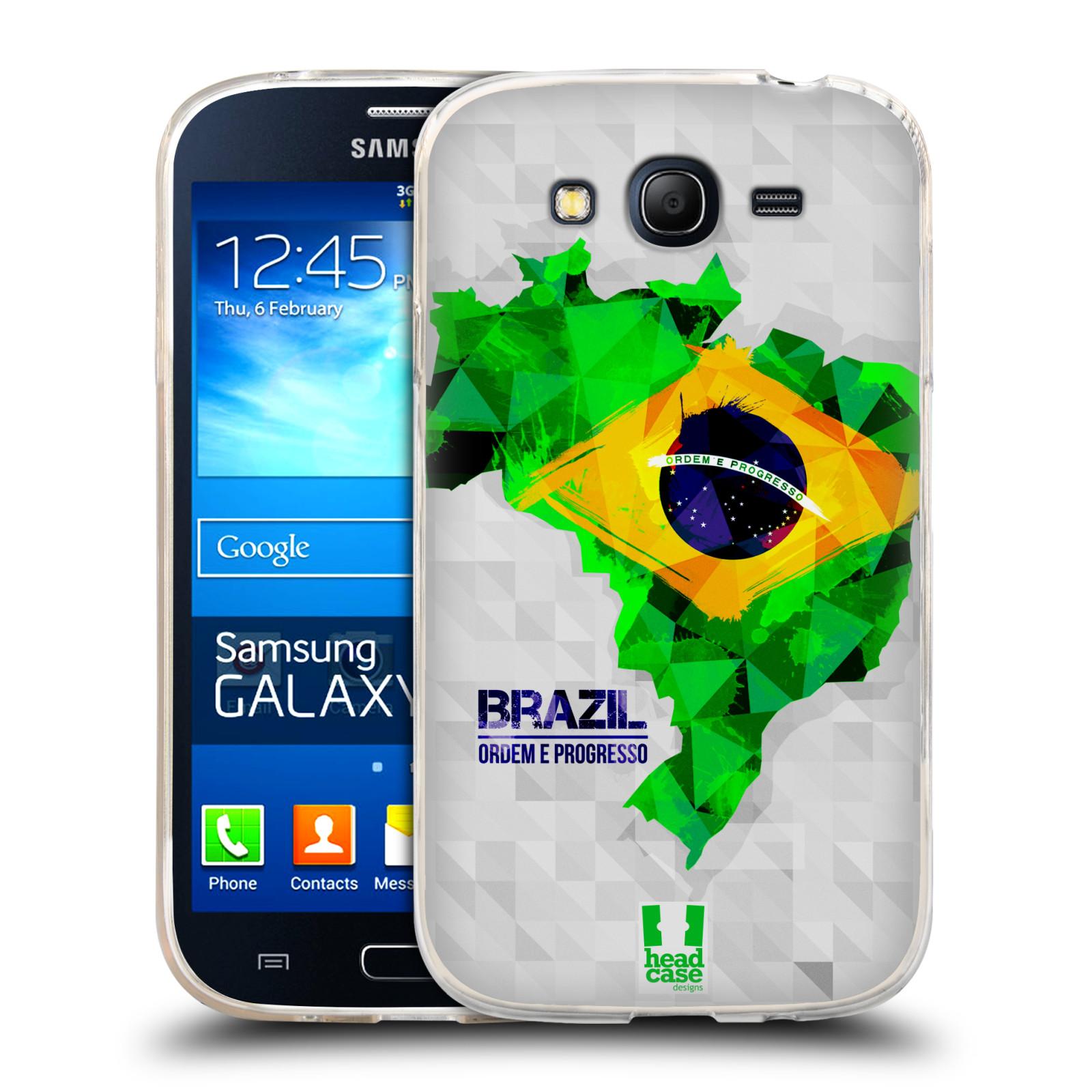 Silikonové pouzdro na mobil Samsung Galaxy Grand Neo HEAD CASE GEOMAPA BRAZÍLIE (Silikonový kryt či obal na mobilní telefon Samsung Galaxy Grand Neo GT-I9060)