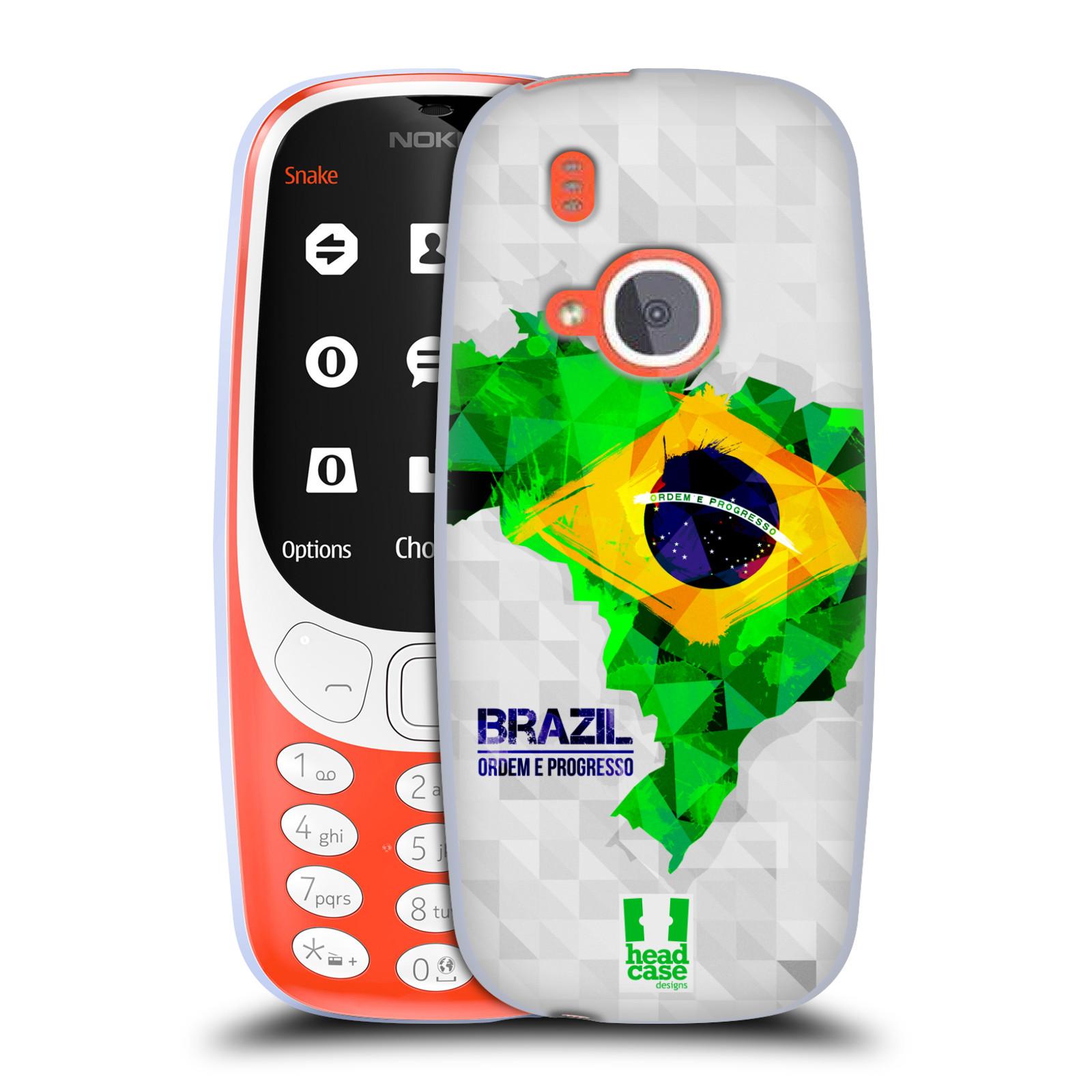 Silikonové pouzdro na mobil Nokia 3310 - Head Case - GEOMAPA BRAZÍLIE (Silikonový kryt či obal na mobilní telefon Nokia 3310 (2017) s motivem GEOMAPA BRAZÍLIE)
