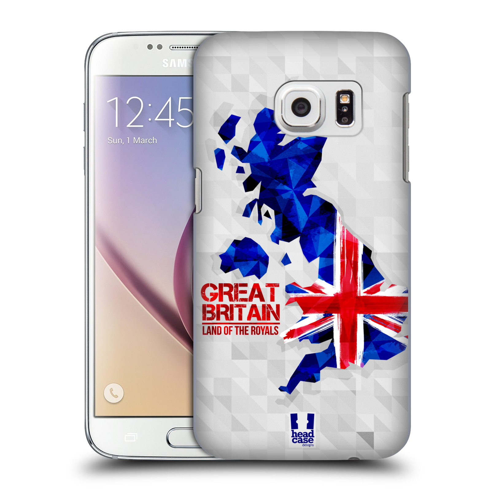 Plastové pouzdro na mobil Samsung Galaxy S7 HEAD CASE GEOMAPA VELKÁ BRTÁNIE (Kryt či obal na mobilní telefon Samsung Galaxy S7 SM-G930F)