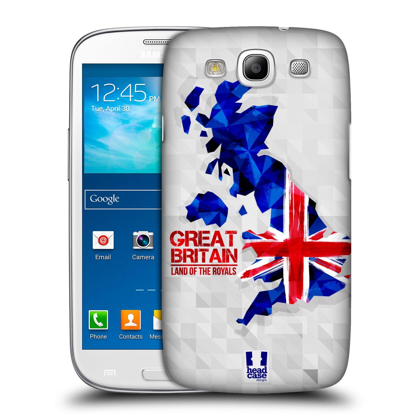 Plastové pouzdro na mobil Samsung Galaxy S3 Neo HEAD CASE GEOMAPA VELKÁ BRTÁNIE