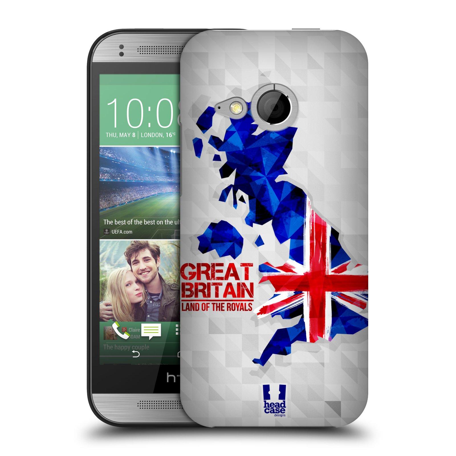 Plastové pouzdro na mobil HTC ONE Mini 2 HEAD CASE GEOMAPA VELKÁ BRTÁNIE (Kryt či obal na mobilní telefon HTC ONE Mini 2)